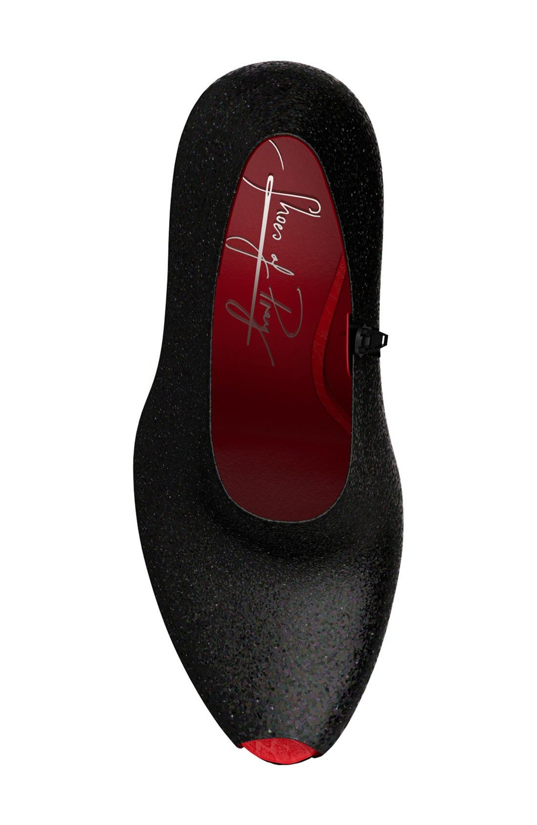 Alternate Image 4  - Shoes of Prey Glitter Peep Toe Platform Bootie (Women)