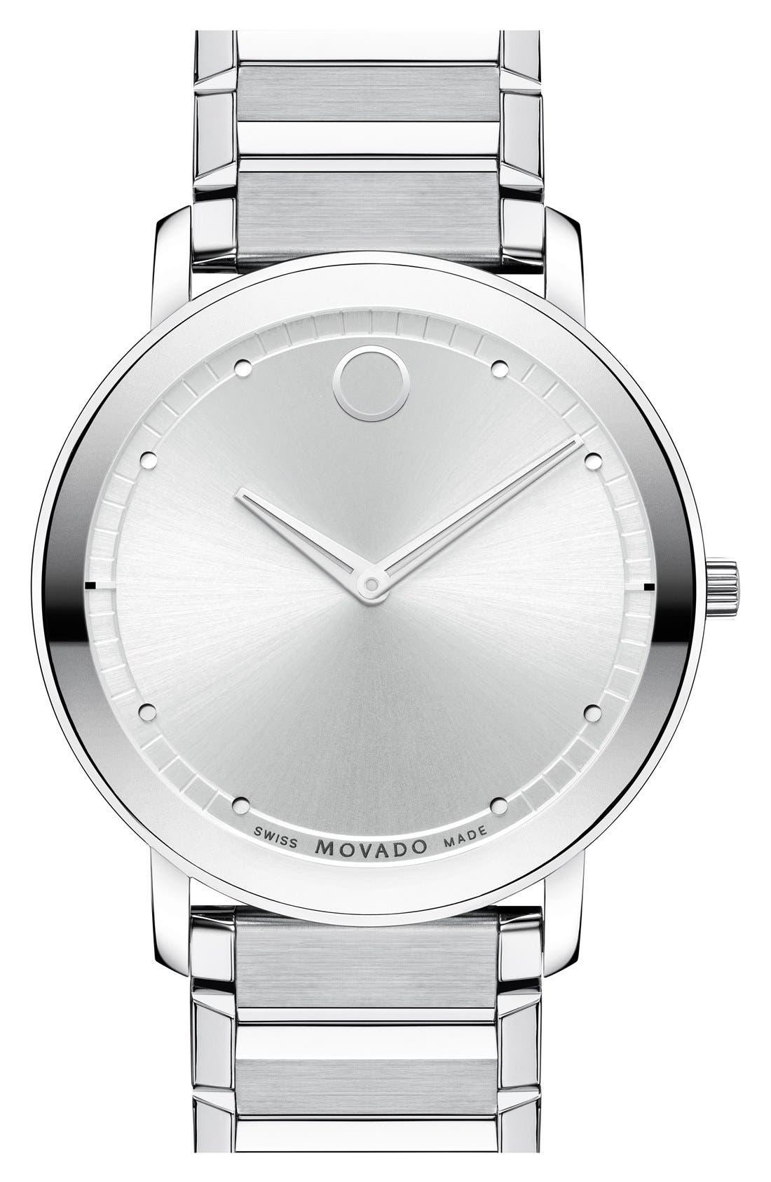 Alternate Image 1 Selected - Movado 'Sapphire' Bracelet Watch, 40mm