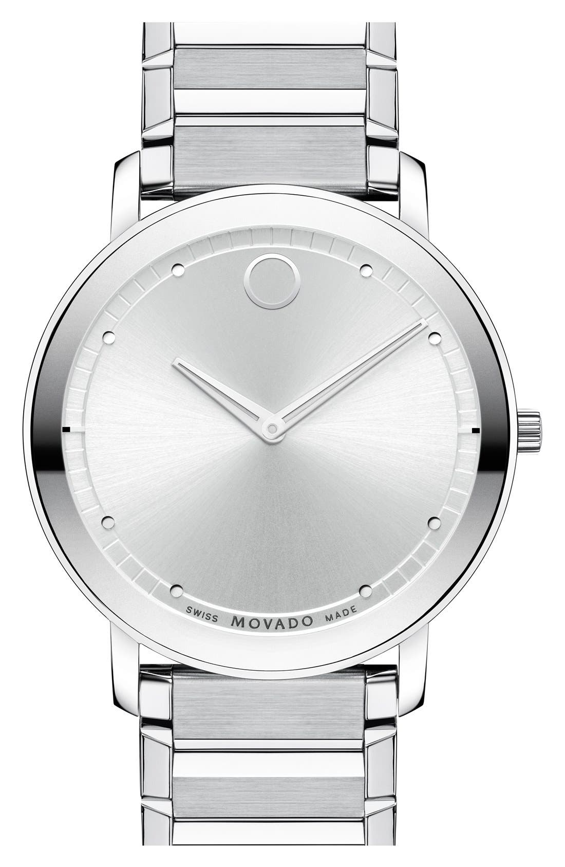 Main Image - Movado 'Sapphire' Bracelet Watch, 40mm