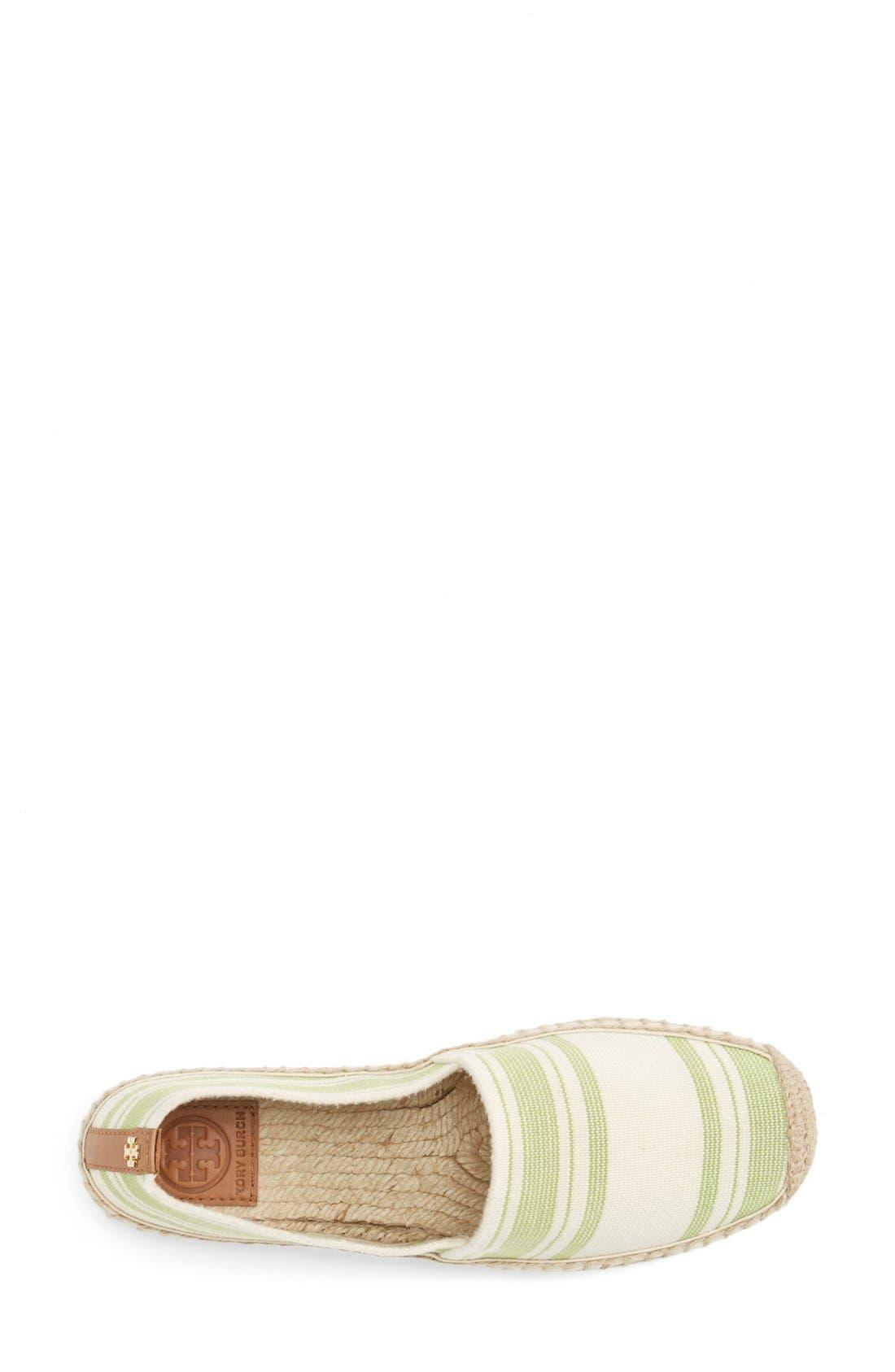 Alternate Image 3  - Tory Burch Stripe Espadrille Flat (Women)