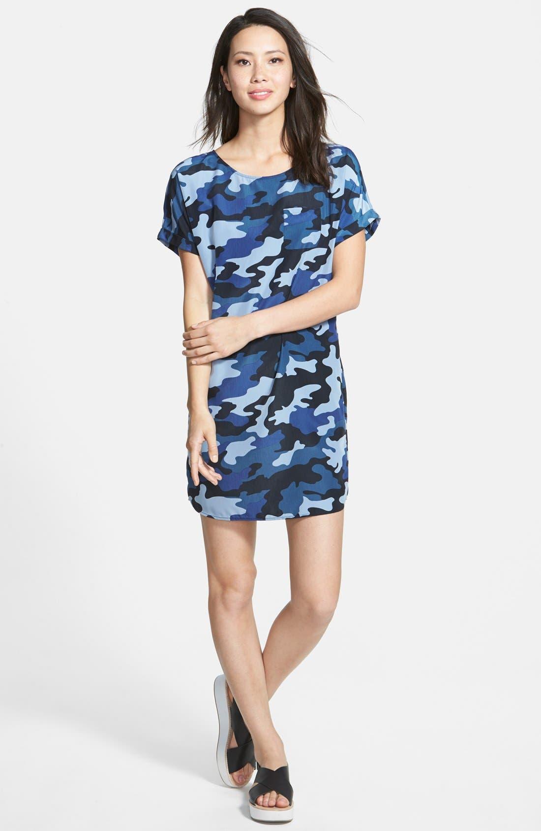 Alternate Image 1 Selected - Caslon® Woven Shift Dress (Regular & Petite)