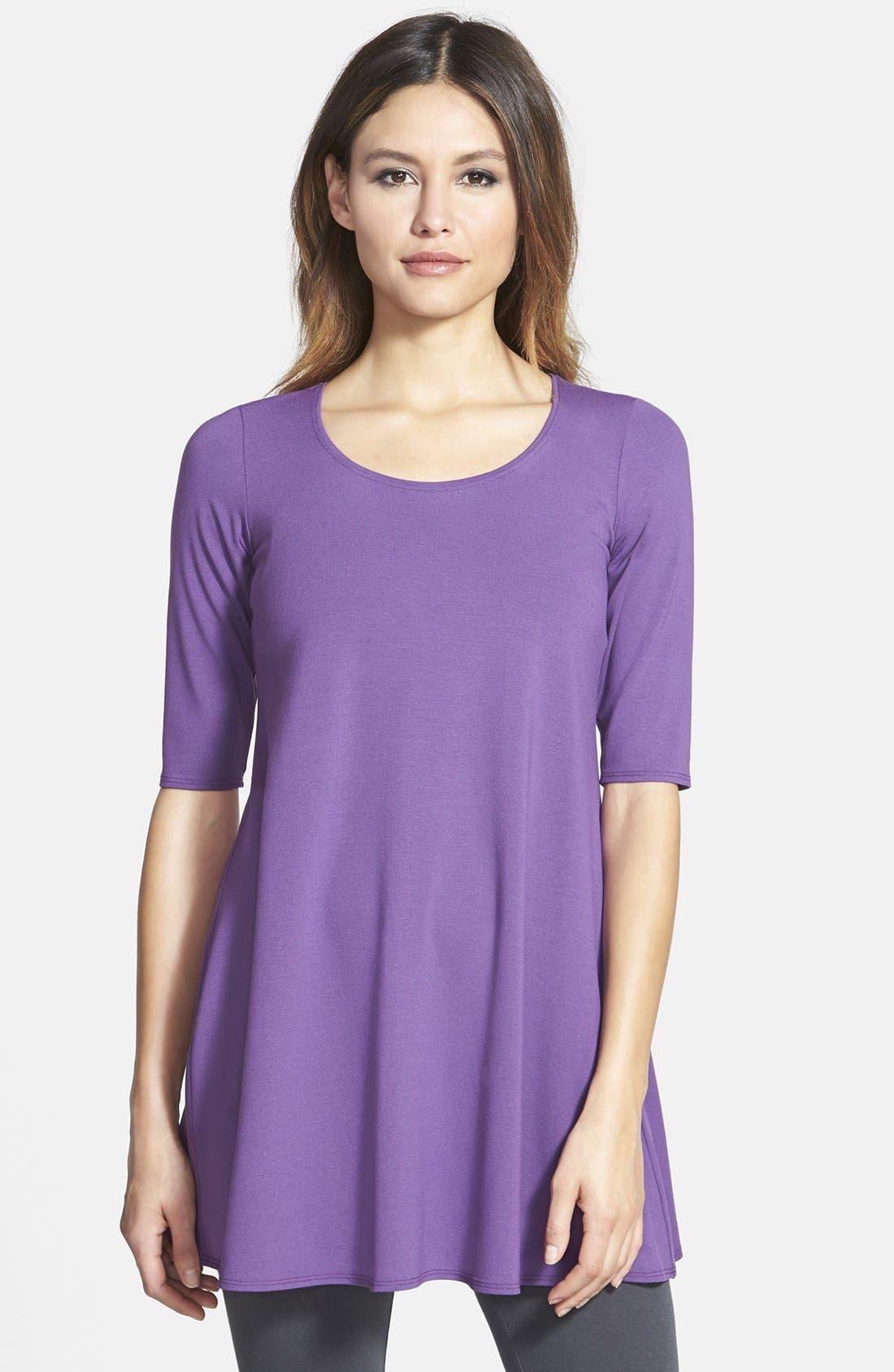 Alternate Image 1 Selected - Eileen Fisher Elbow Sleeve Tunic (Regular & Petite)
