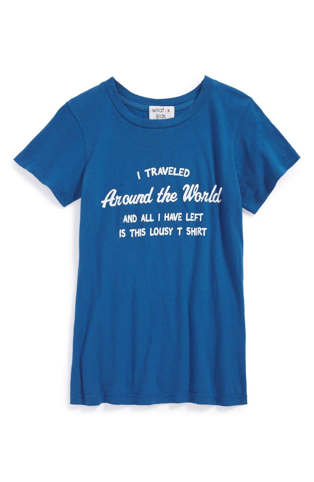Main Image - Wildfox 'Around the World' Graphic Cotton Tee (Big Girls)