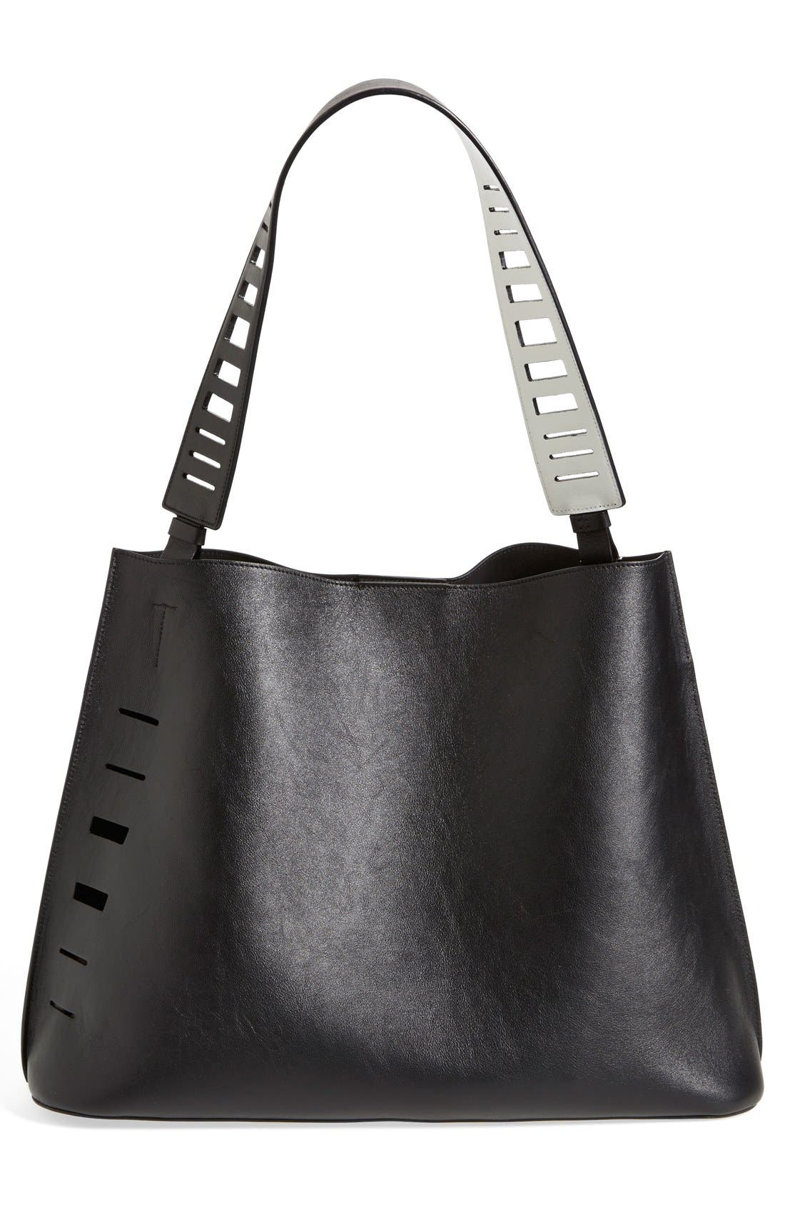 Alternate Image 2  - Vince 'Medium' Cutout Leather Hobo