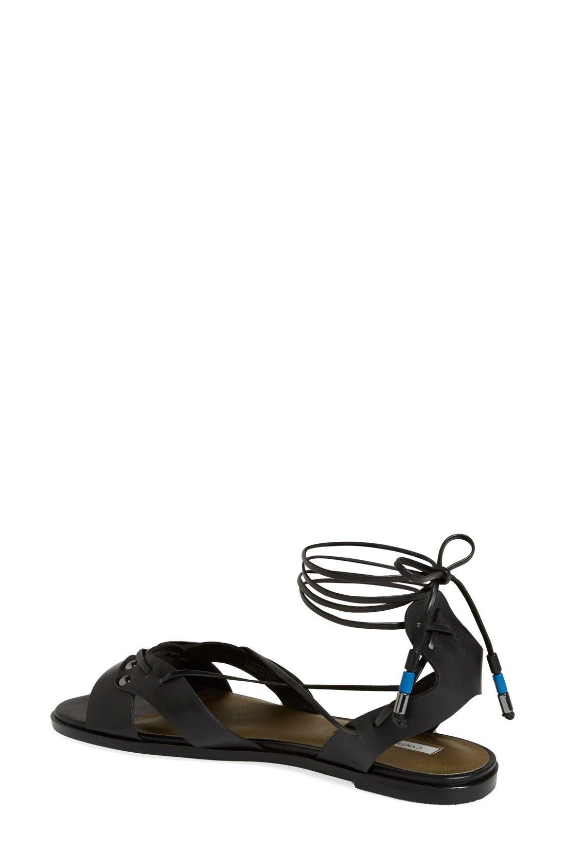 Alternate Image 2  - Cynthia Vincent 'Fantine' Leather Gladiator Sandal (Women)
