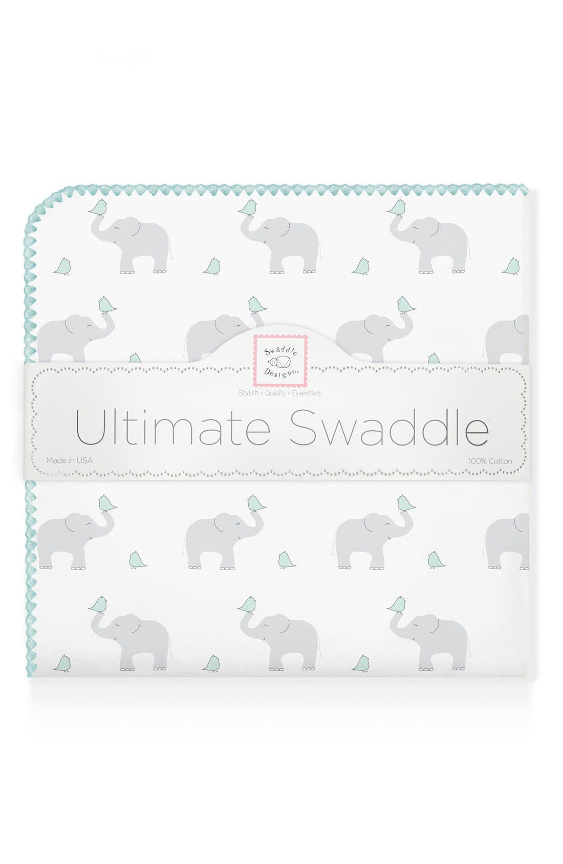 Alternate Image 1 Selected - Swaddle Designs 'Elephant & Chickies' Blanket