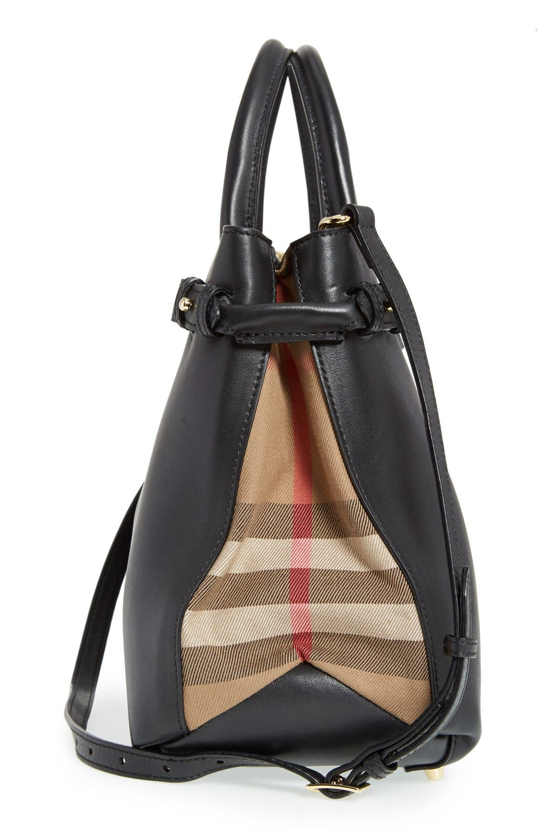 Alternate Image 5  - Burberry 'Medium Banner' House Check Leather Tote