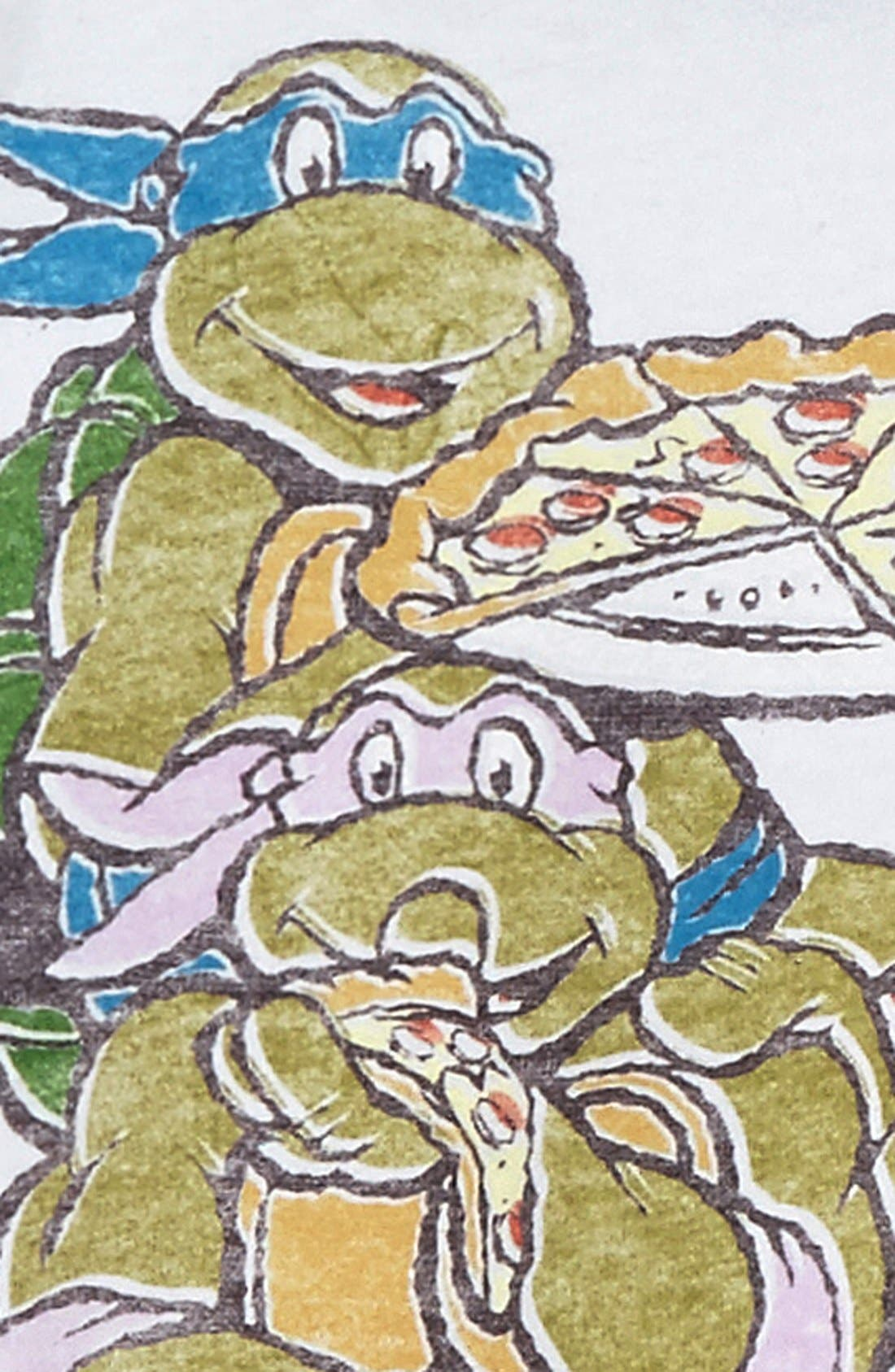 Alternate Image 2  - Junk Food 'Teenage Mutant Ninja Turtles™ - Eat Pizza' Graphic T-Shirt (Little Boys & Big Boys)