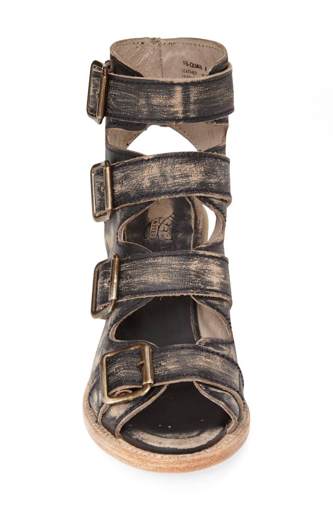 Alternate Image 3  - Freebird by Steven 'Quail' Open Toe Leather Bootie (Women)