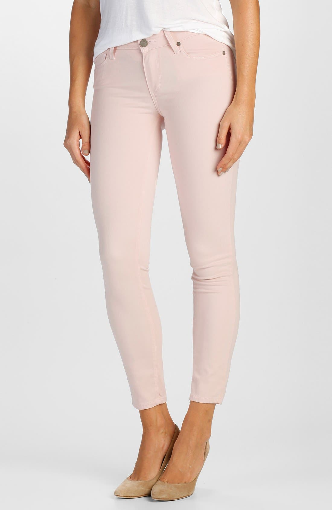 Main Image - Paige Denim 'Verdugo' Ankle Ultra Skinny Jeans (True Blush)