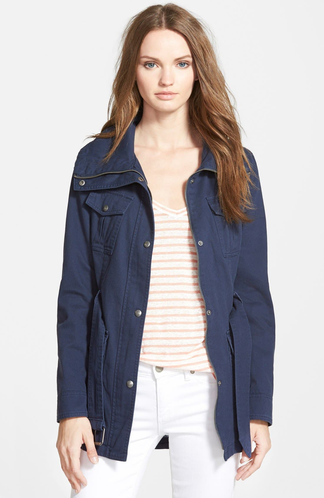 Main Image - GUESS Belted Utility Jacket