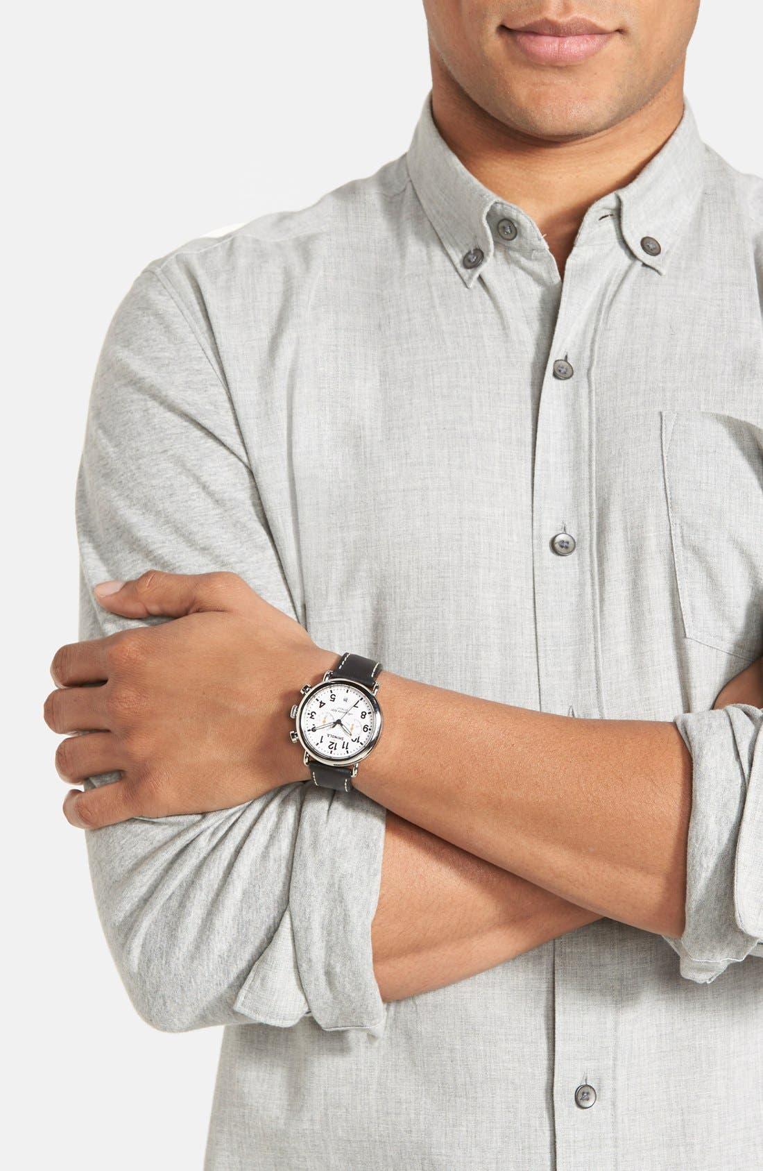 Alternate Image 4  - Shinola 'The Runwell Chrono' Leather Strap Watch, 41mm