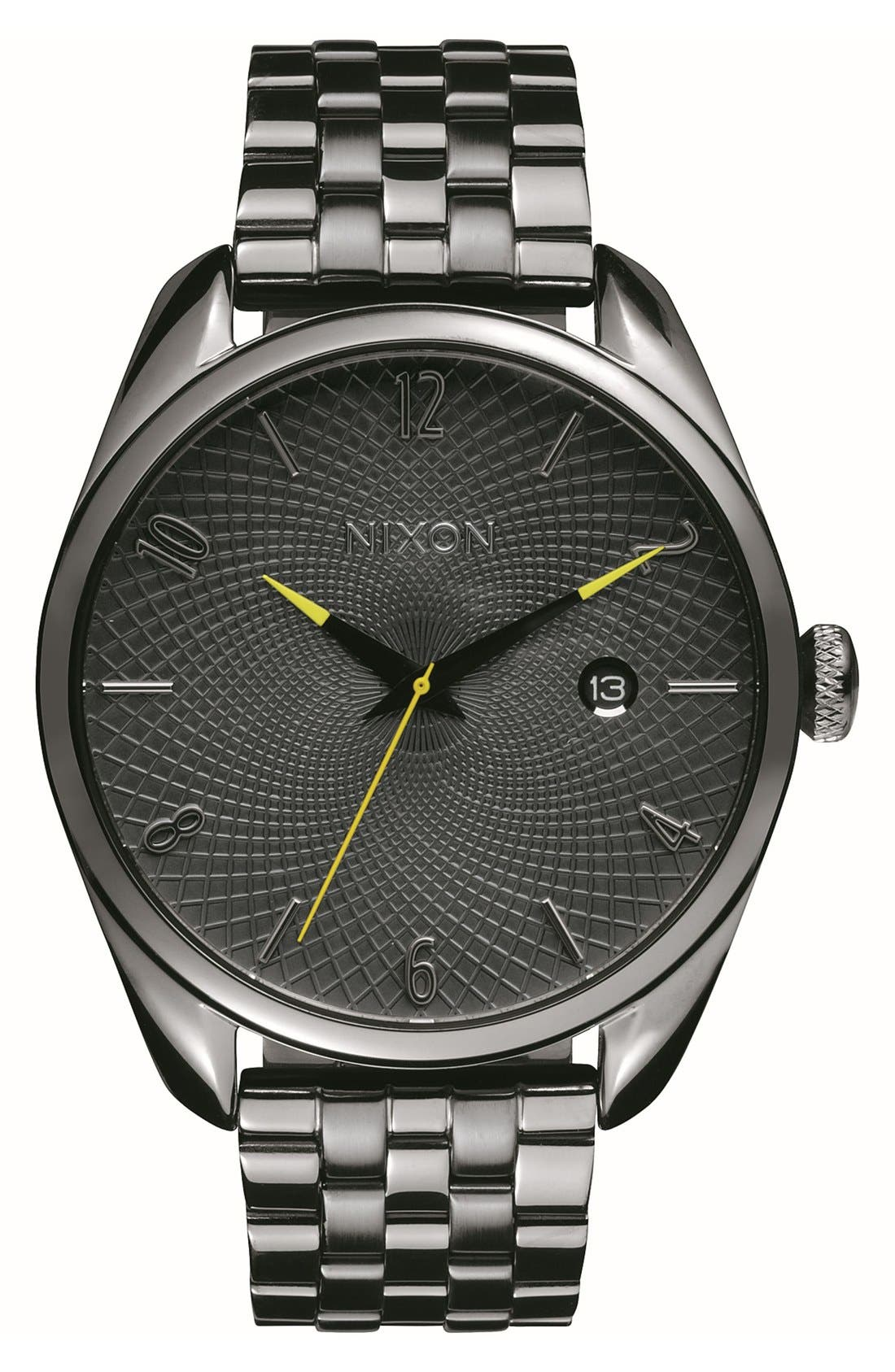 Nixon 'Bullet' Guilloche Dial Bracelet Watch, 38mm