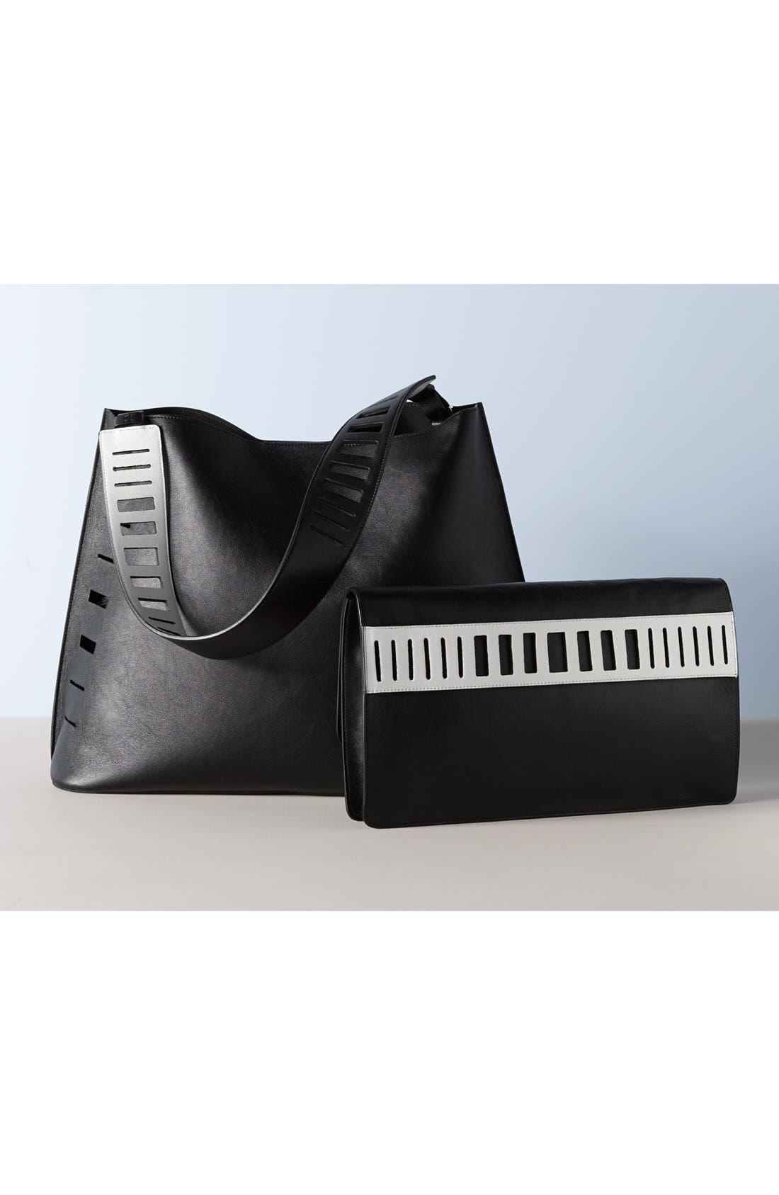 Alternate Image 7  - Vince 'Medium' Cutout Leather Hobo