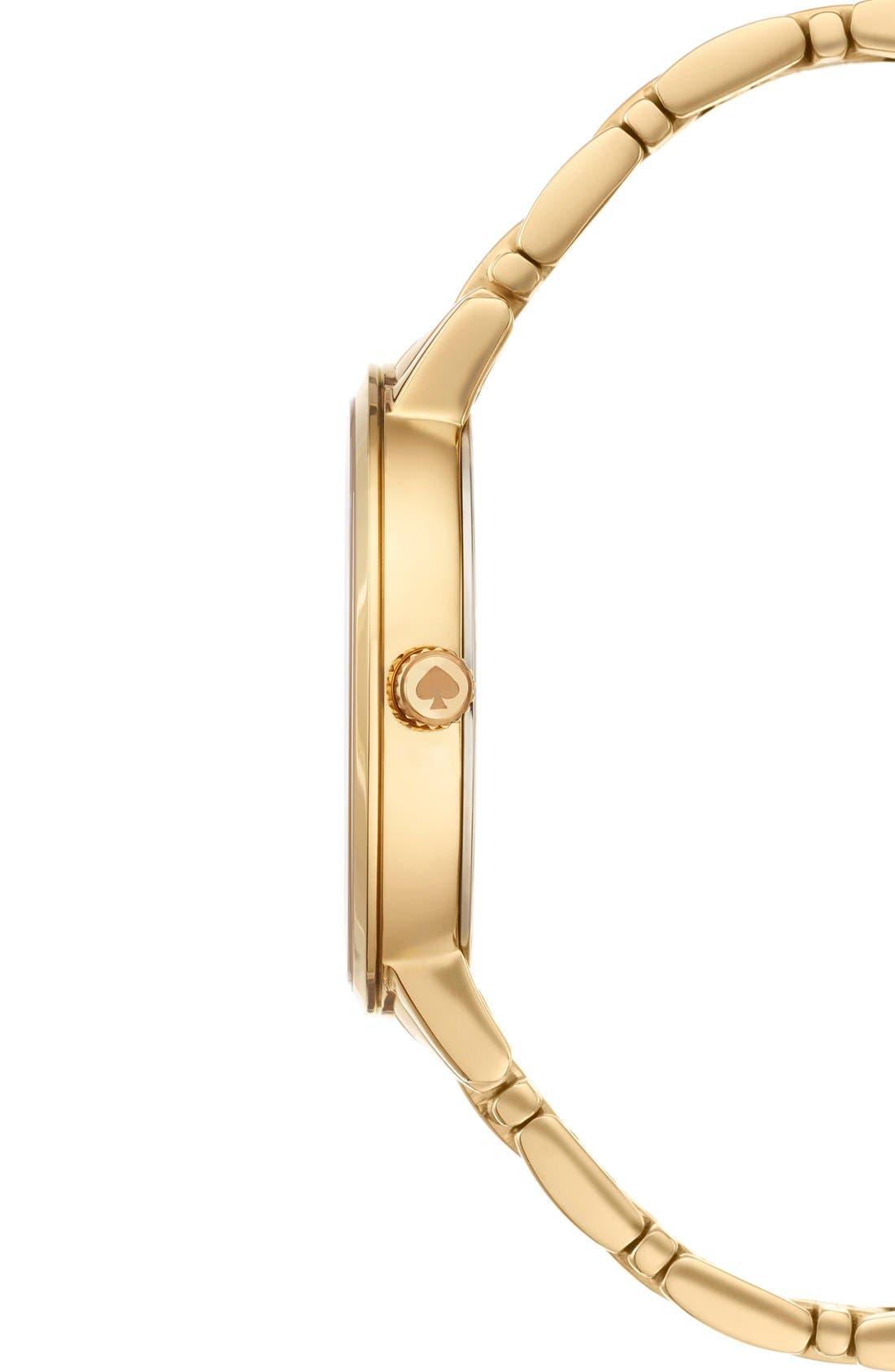 Alternate Image 3  - kate spade new york 'gramercy' scalloped dial bracelet watch, 34mm