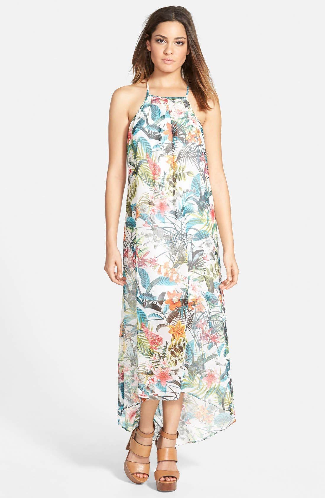 Alternate Image 1 Selected - Wayf Pleated Maxi Dress