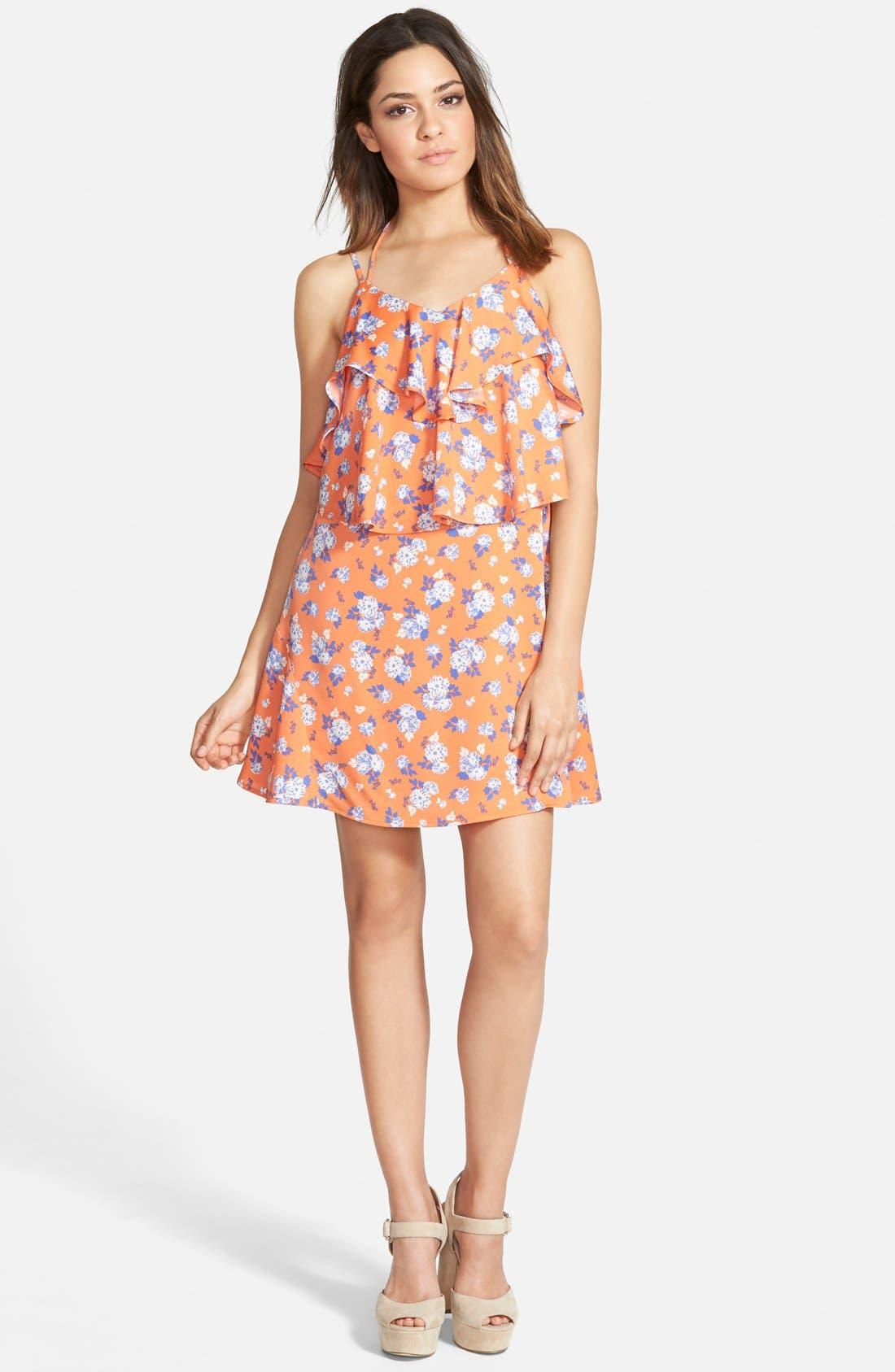 Alternate Image 1 Selected - J.O.A. Print Overlay Dress