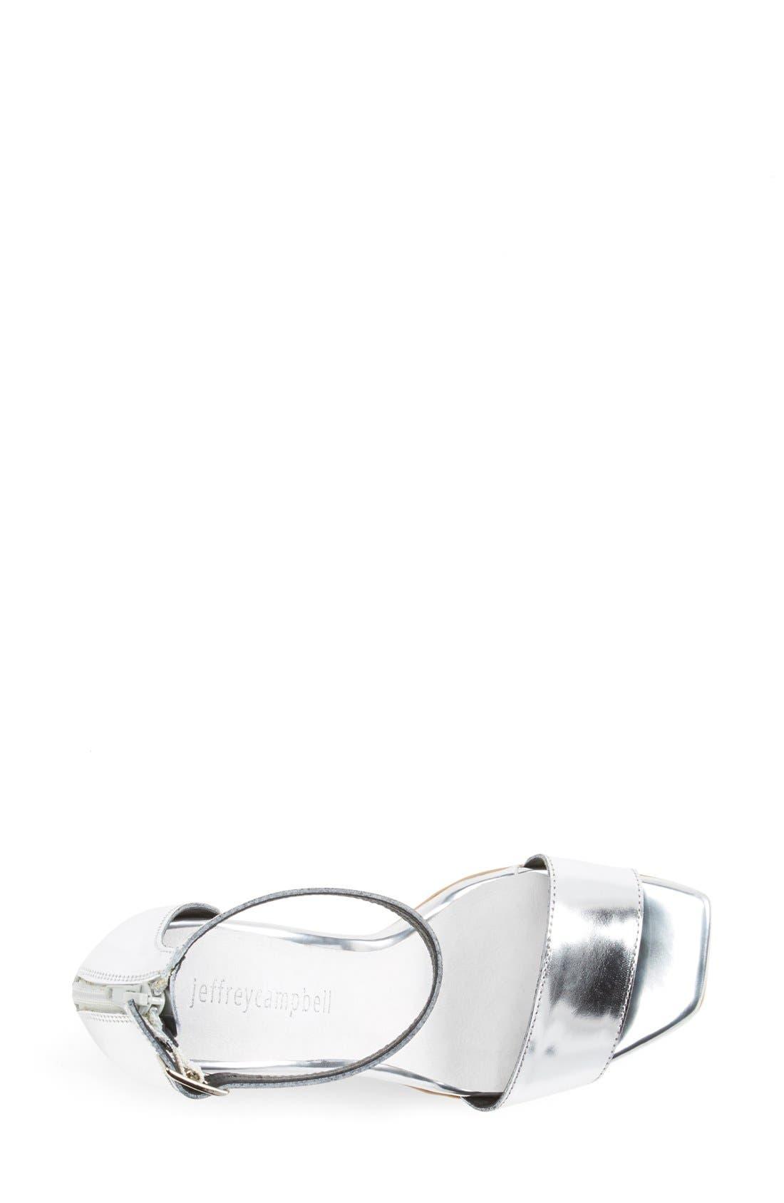Alternate Image 3  - Jeffrey Campbell 'Manor' Metallic Leather Ankle Strap Sandal (Women)