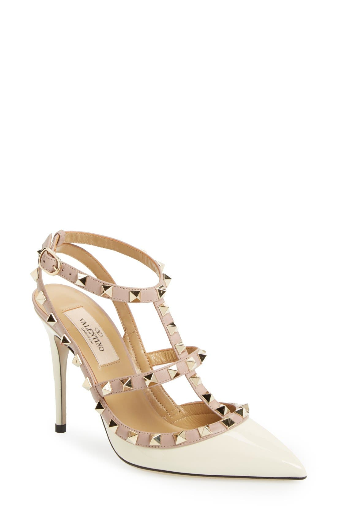 Alternate Image 1 Selected - Valentino Rockstud T-Strap Pump (Women)