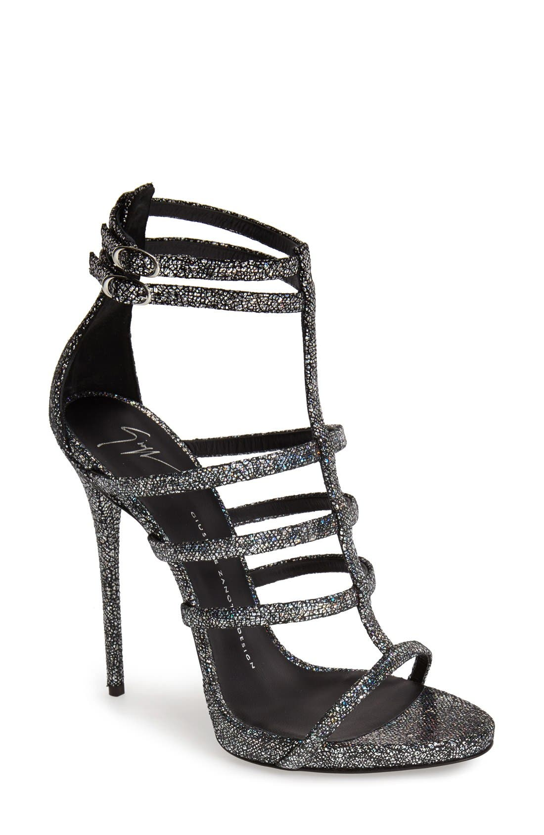 Main Image - Giuseppe Zanotti Metallic Strappy Sandal (Women)