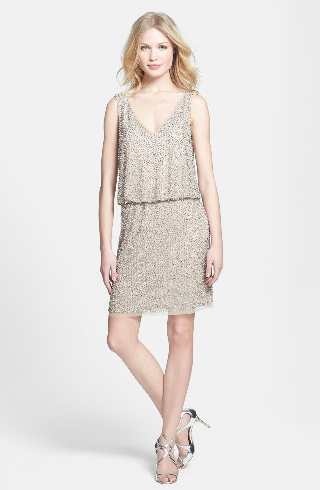Alternate Image 4  - Xscape Beaded Blouson Dress