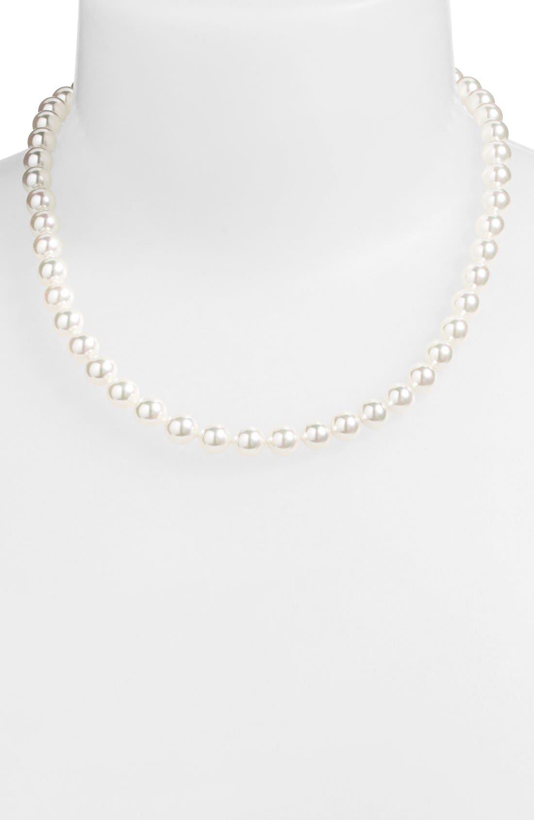 Alternate Image 2  - Majorica 8mm Pearl Choker Necklace (Nordstrom Online Exclusive)