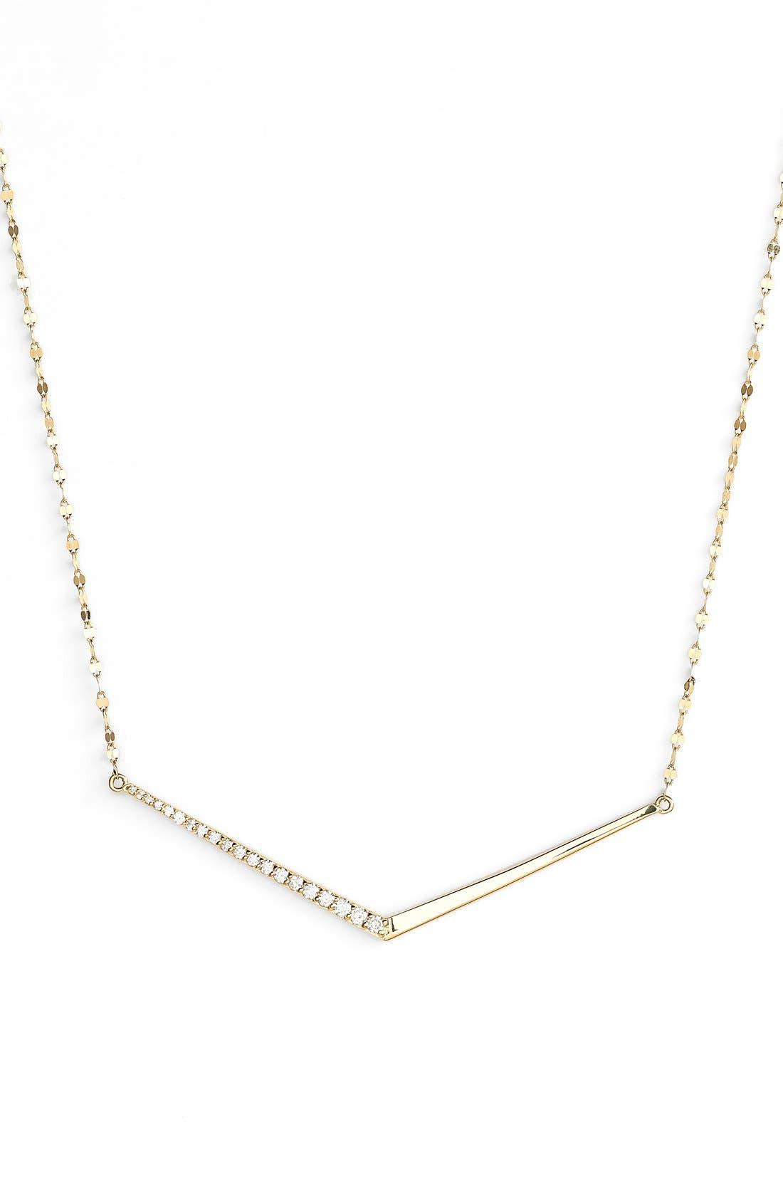 LANA JEWELRY 'Mirage' Edge Diamond Pendant Necklace