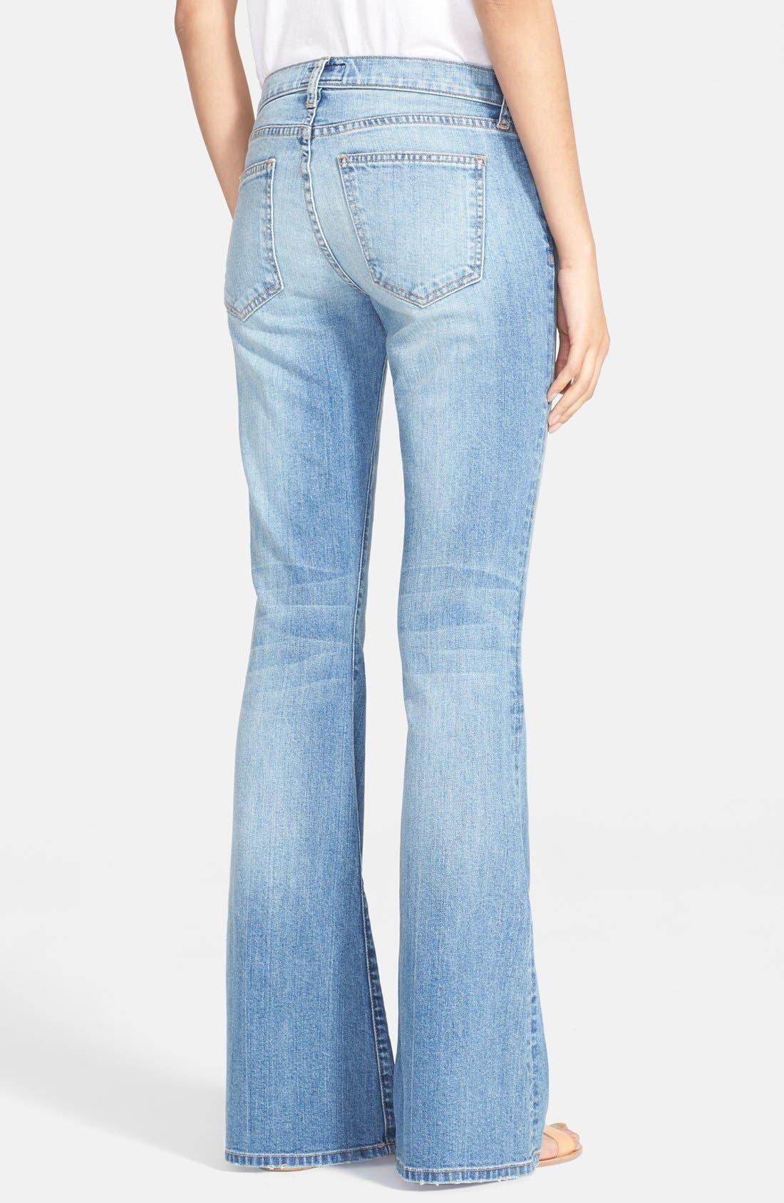 Alternate Image 2  - Current/Elliott Bell Bottom Jeans (Heirloom)