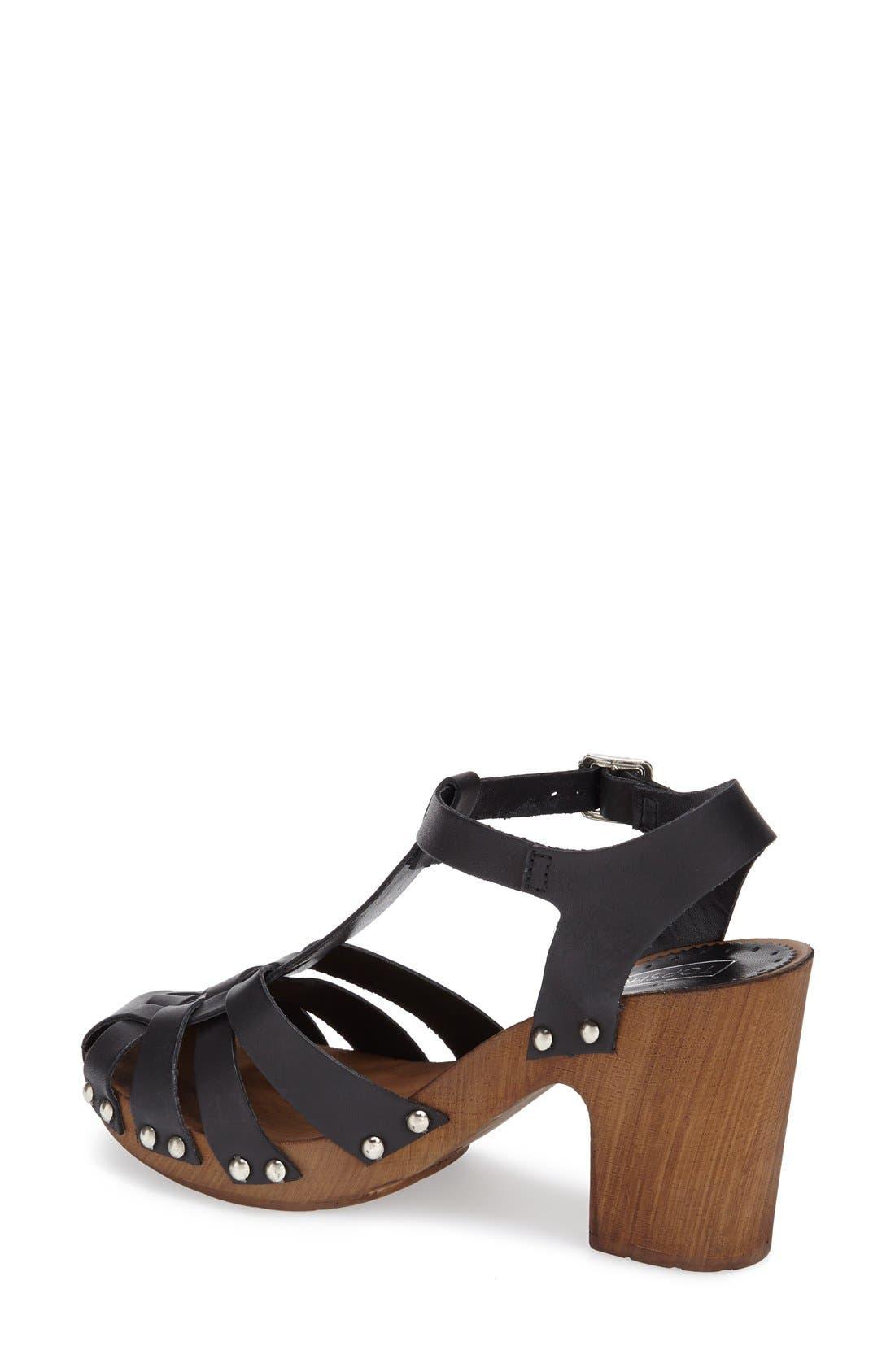 Alternate Image 2  - Topshop 'Nelly' Leather Platform Sandal (Women)