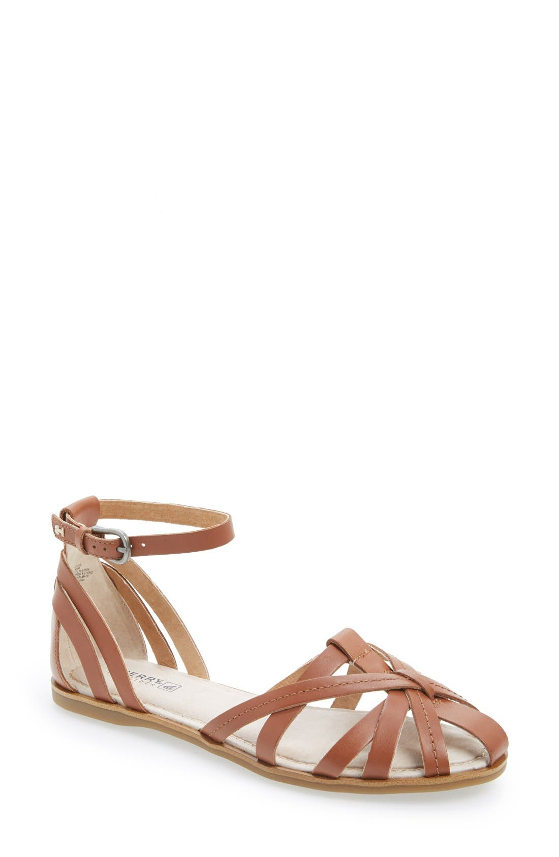 Alternate Image 1 Selected - Sperry 'June' Leather Ankle Strap Sandal (Women)