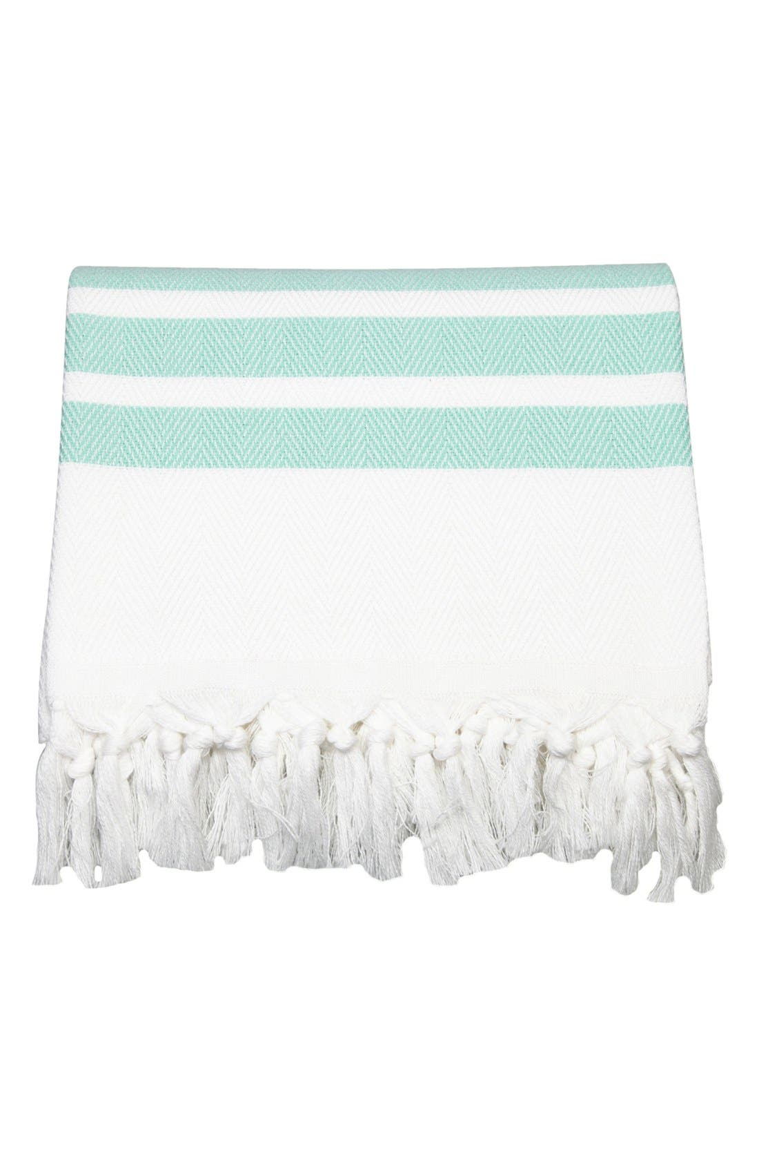 Alternate Image 4  - Linum Home Textiles Herringbone Striped Turkish Pestemal Towel