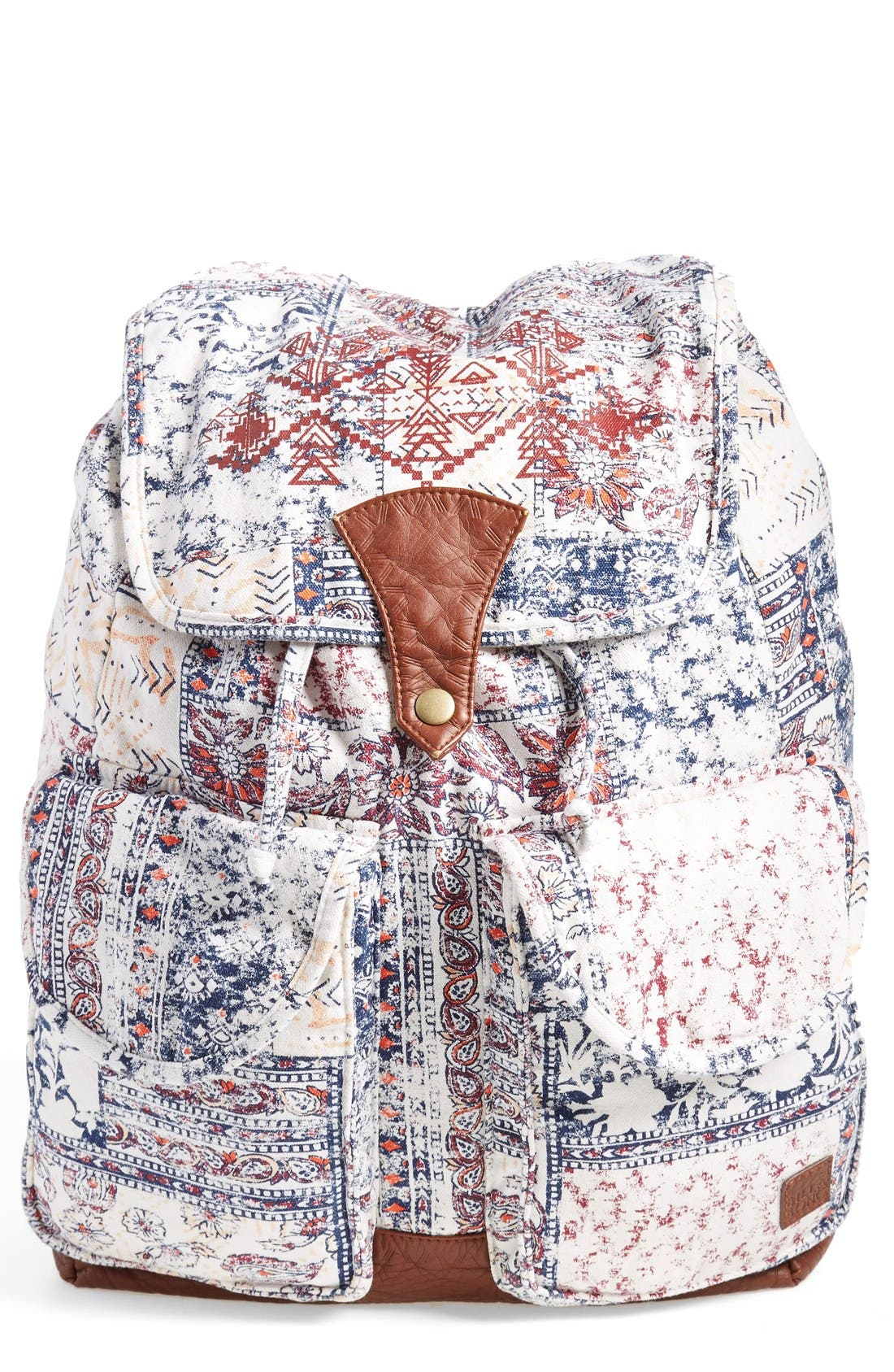 Alternate Image 1 Selected - Billabong 'Midnight Moonz' Slouchy Canvas Backpack