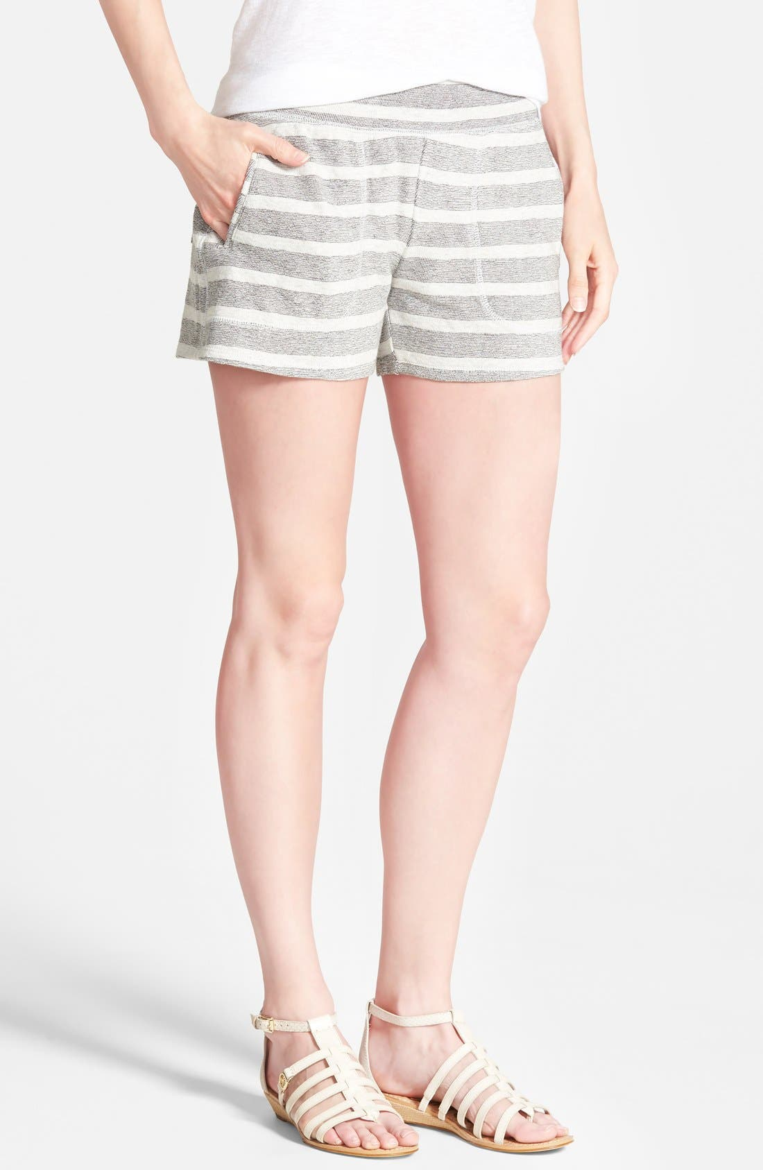 Alternate Image 1 Selected - Lucky Brand Stripe Cotton Shorts