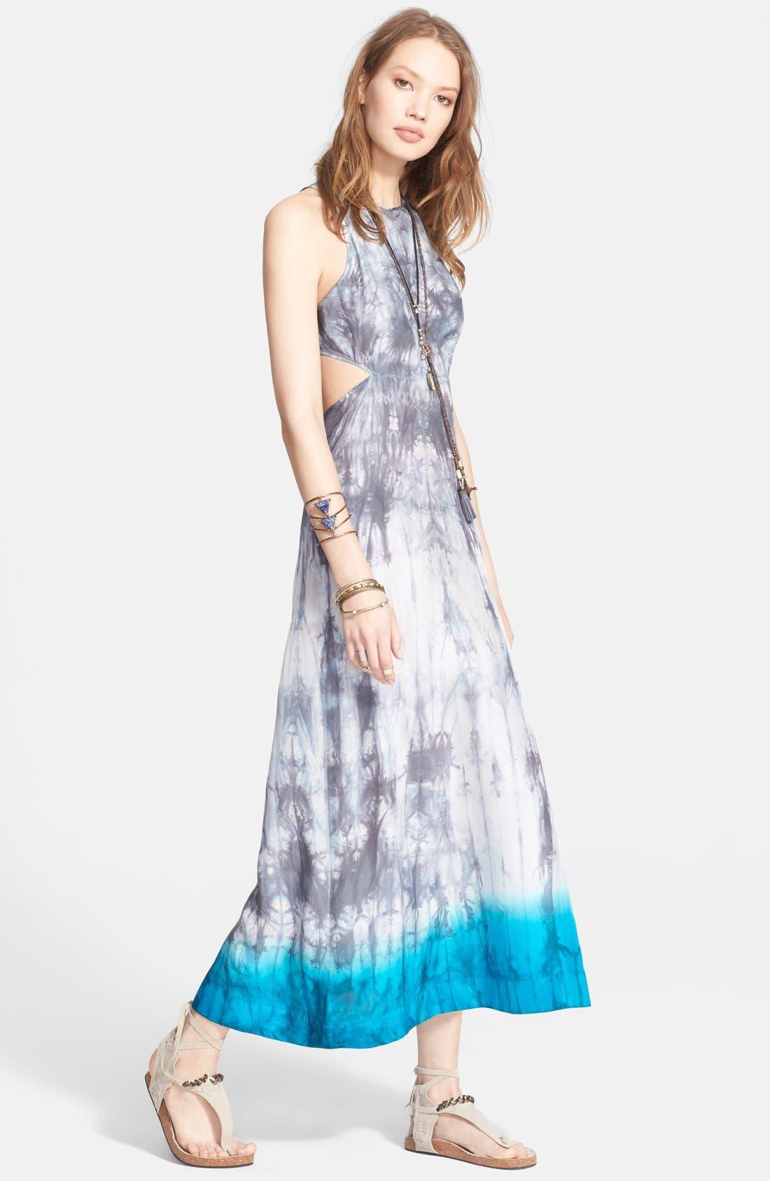 Main Image - Free People 'Shadow' Tie Dye Silk Dress