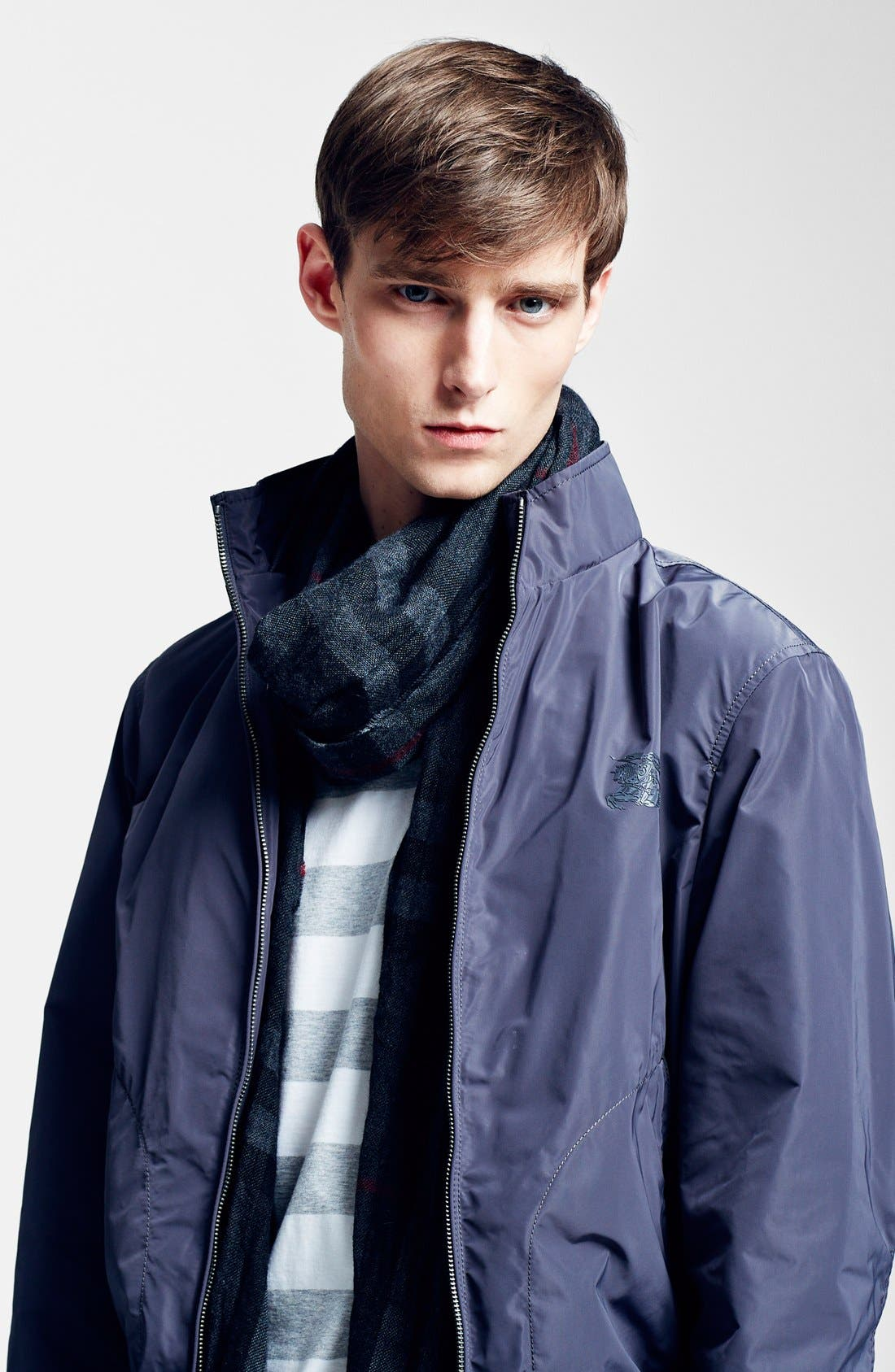 Alternate Image 3  - Burberry Crinkled Merino Wool & Cashmere Scarf