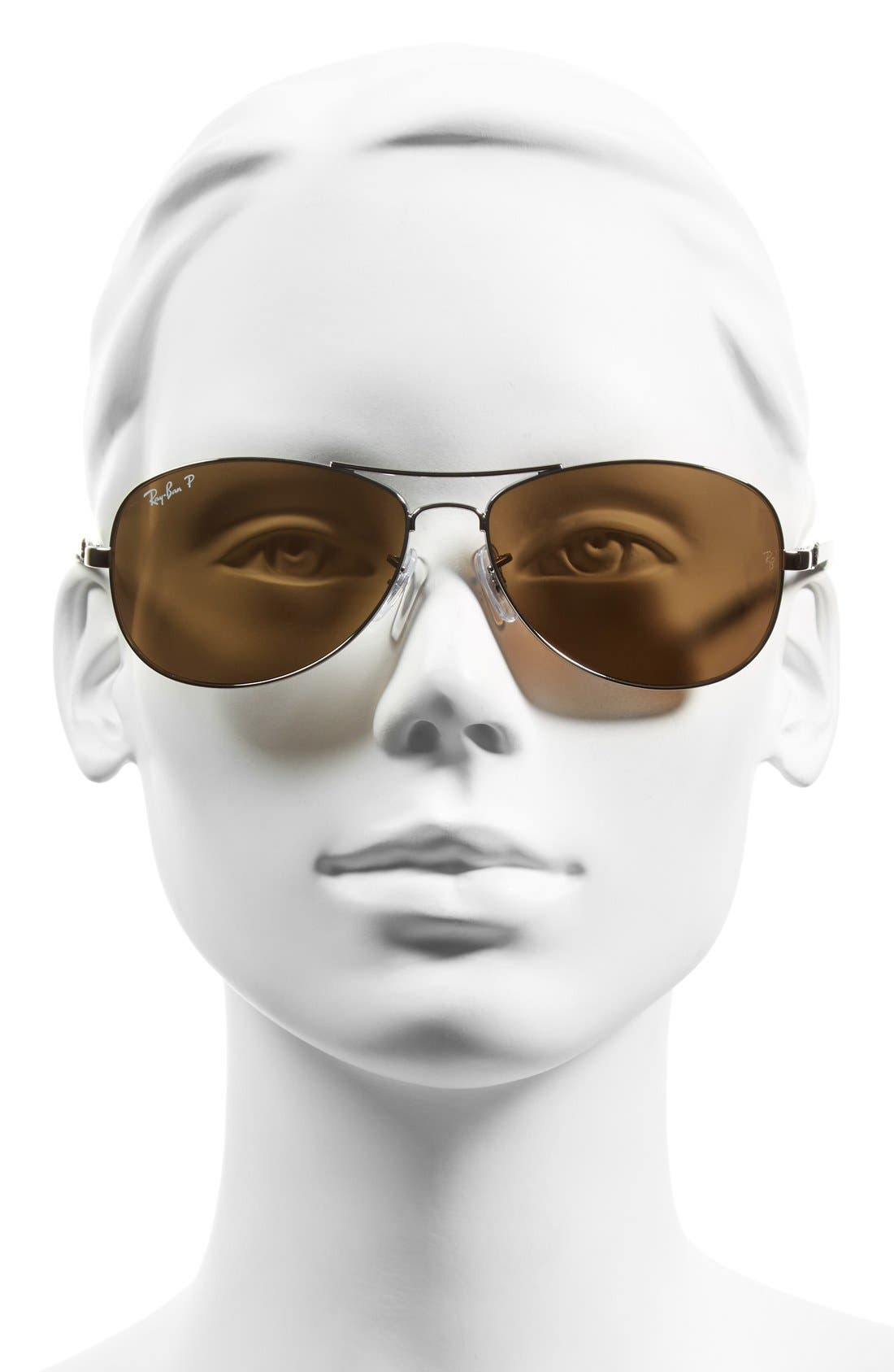 Alternate Image 2  - Ray-Ban 'TECH' 59mm Polarized Aviator Sunglasses