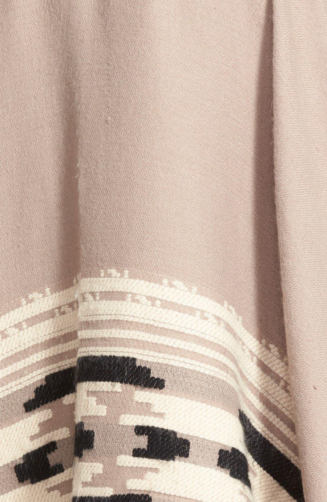 Alternate Image 3  - Vince Camuto Geometric Weave Cape