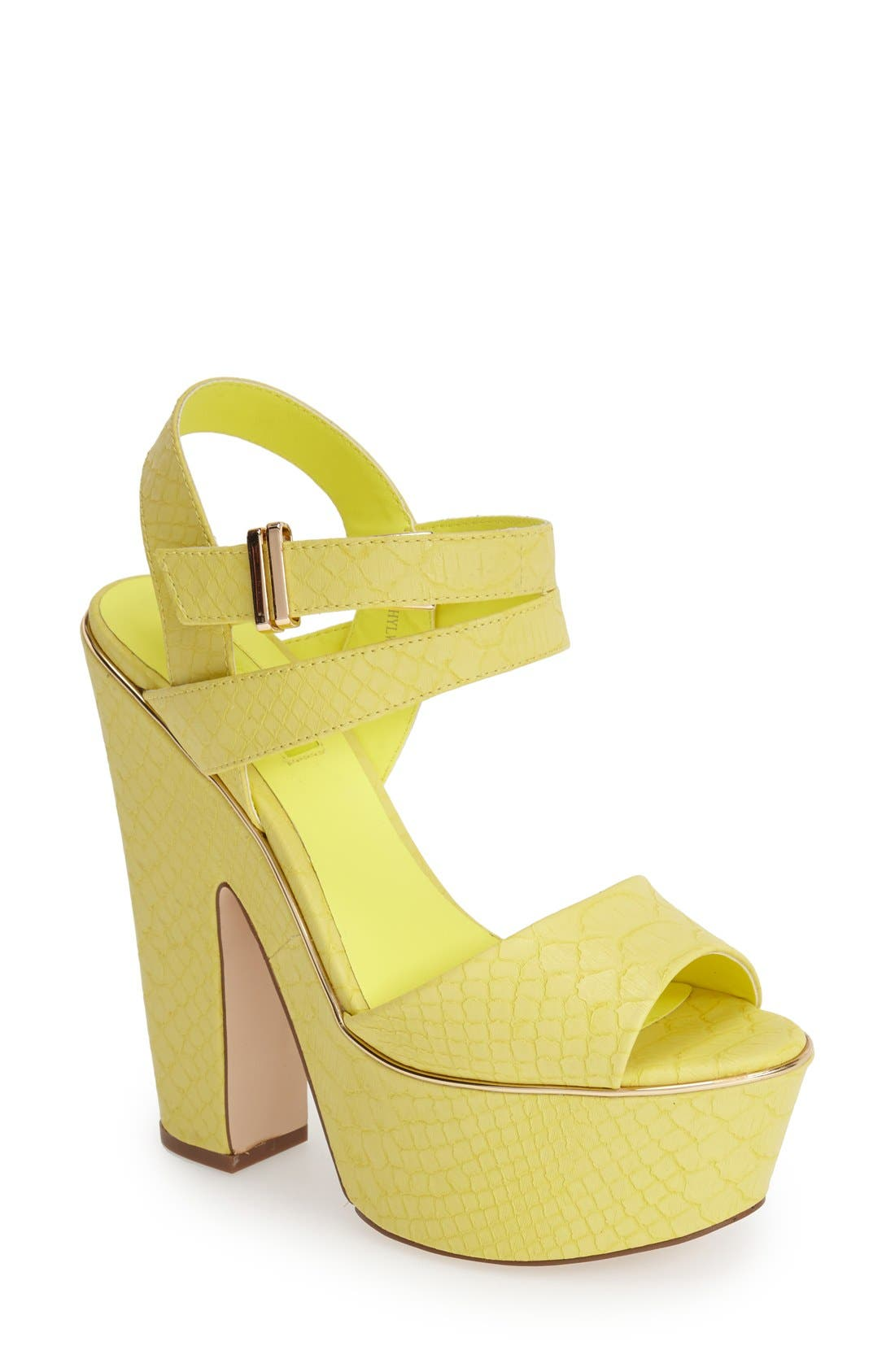 Main Image - Topshop 'Lenni2' Platform Sandal (Women)