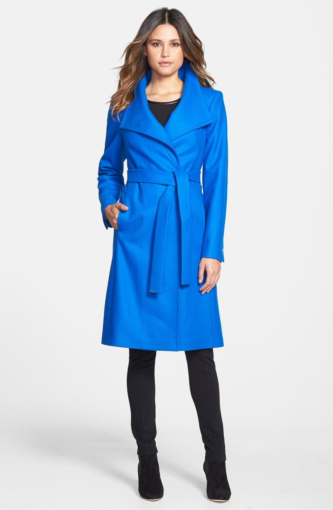 Alternate Image 4  - Ted Baker London 'Nevia' Stand Collar Belted Wrap Coat