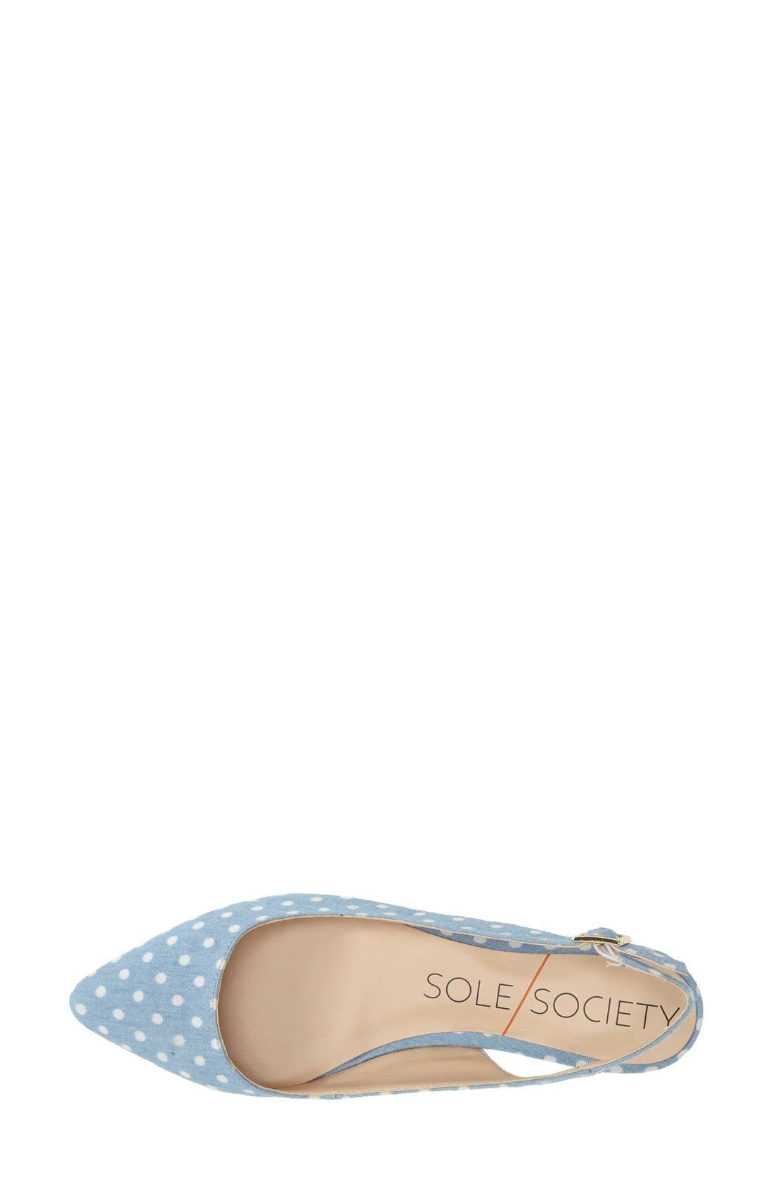 Alternate Image 3  - Sole Society 'Molly' Pointy Toe Slingback Flat (Women)
