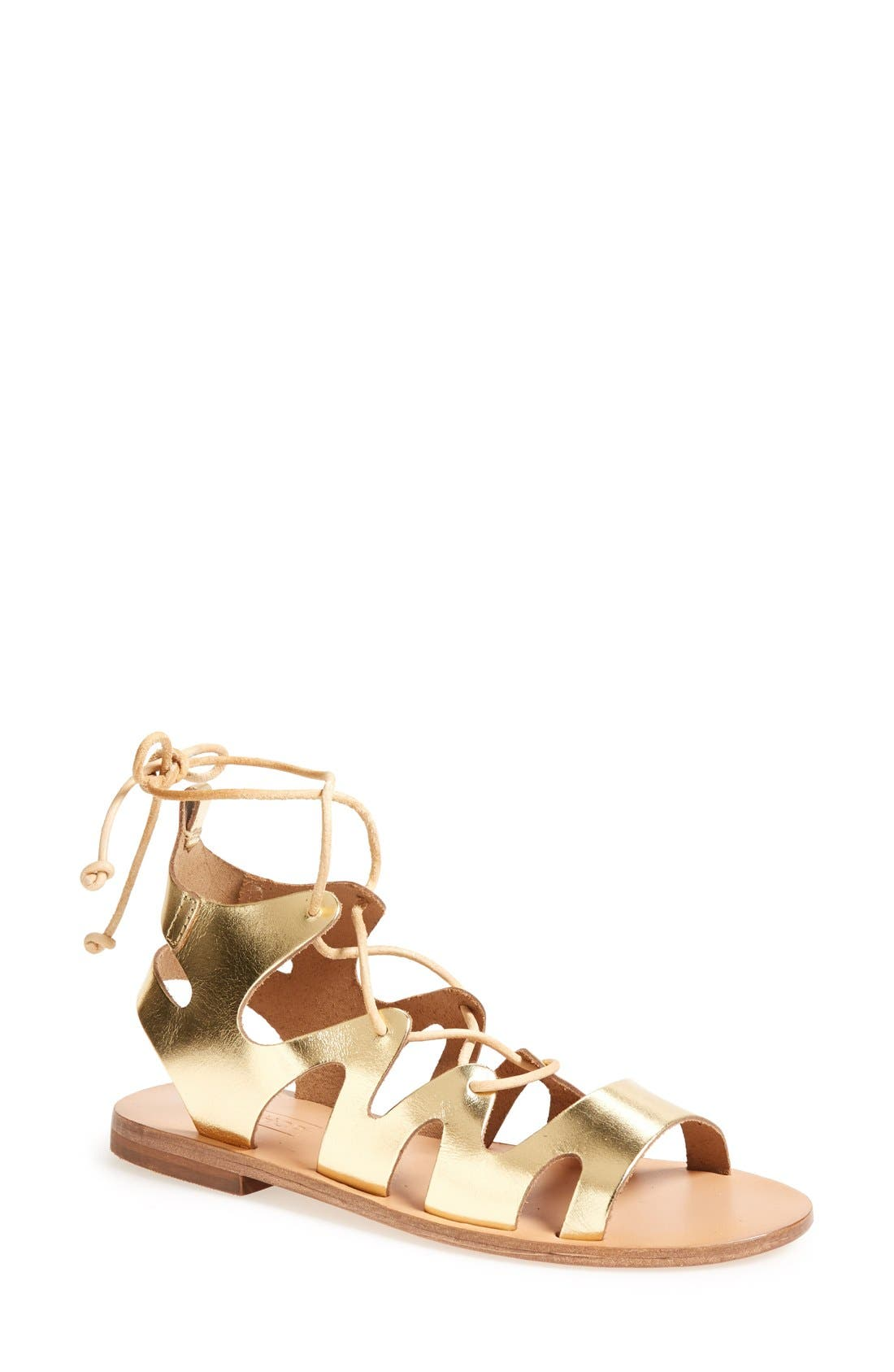 Alternate Image 1 Selected - Topshop 'Fig' Cutout Lace-Up Gladiator Sandal (Women)