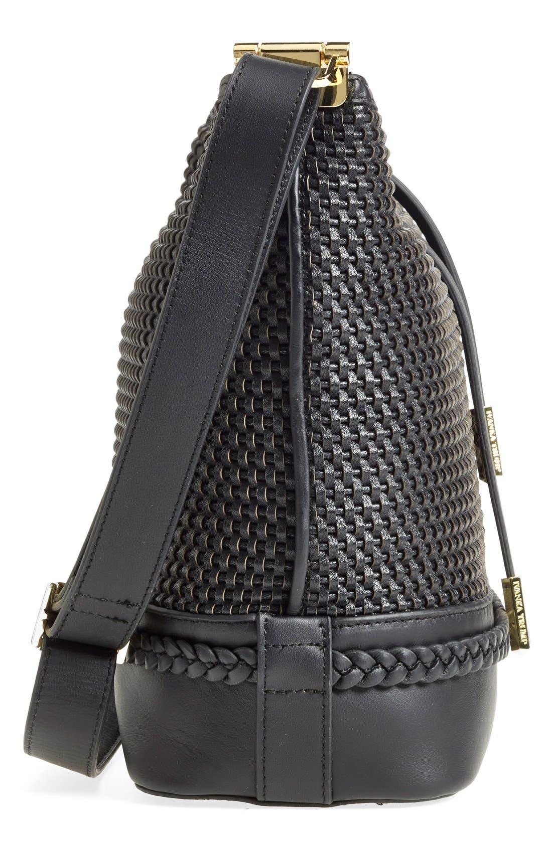 Alternate Image 4  - Ivanka Trump 'Briarcliff' Woven Leather Bucket Bag