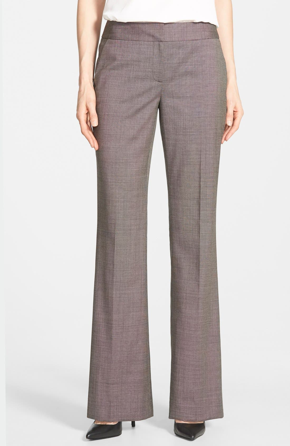 Alternate Image 1 Selected - Classiques Entier® Wool Suiting Pants (Regular & Petite)