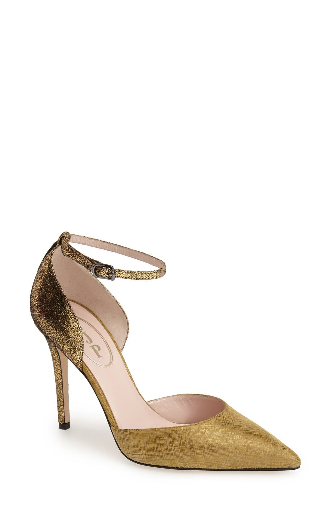 Alternate Image 1 Selected - SJP by Sarah Jessica Parker 'Bella' Pointy Toe Ankle Strap Pump (Women) (Nordstrom Exclusive)