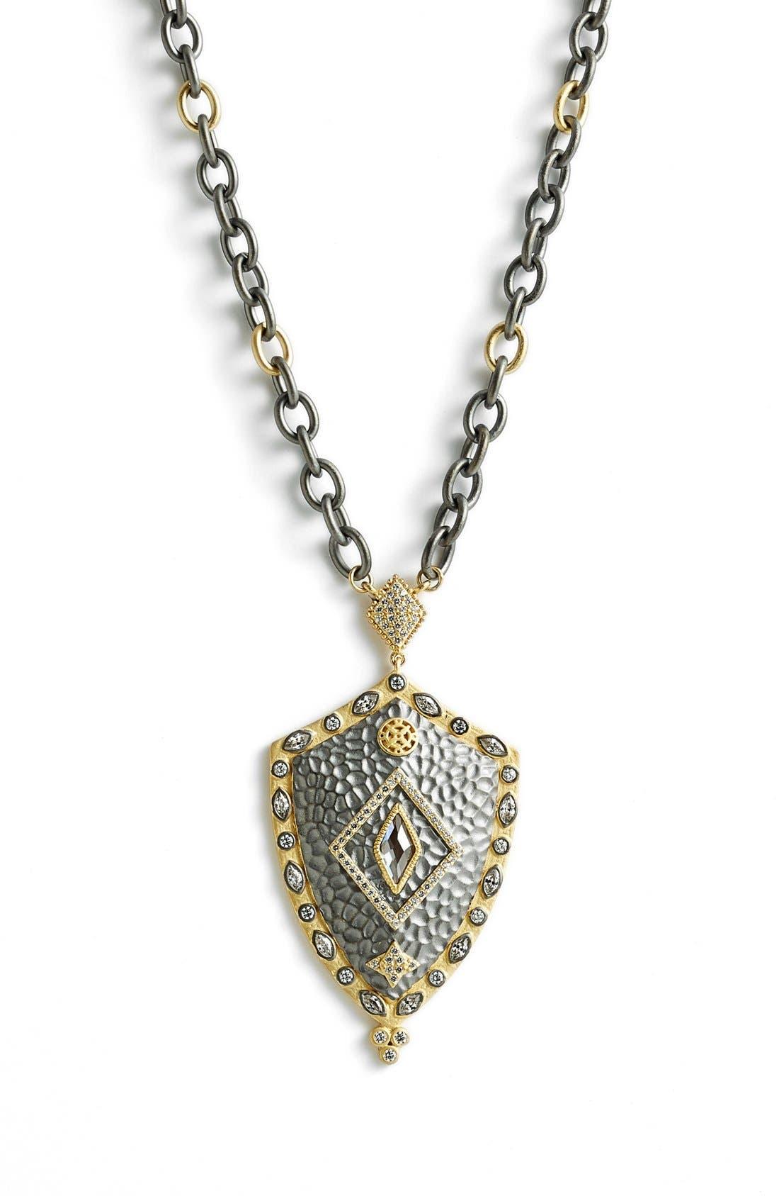 Main Image - FREIDA ROTHMAN 'Metropolitan' Shield Pendant Necklace (Online Only)