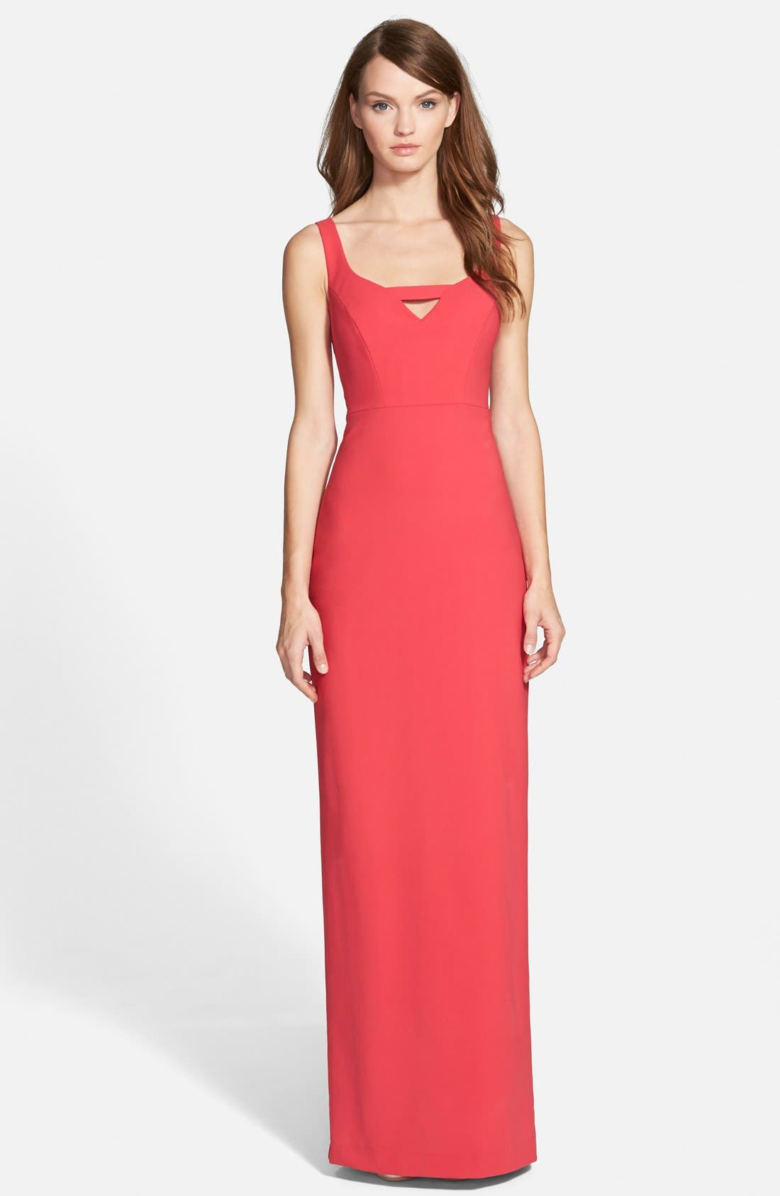 Alternate Image 1 Selected - Nicole Miller Stretch Crepe Column Gown