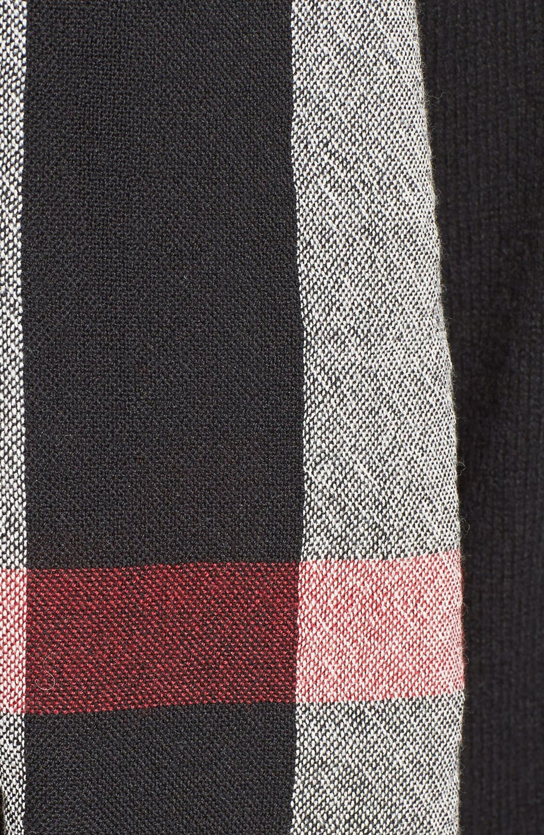 Alternate Image 3  - Burberry Check Merino Wool Scarf (Nordstrom Exclusive)
