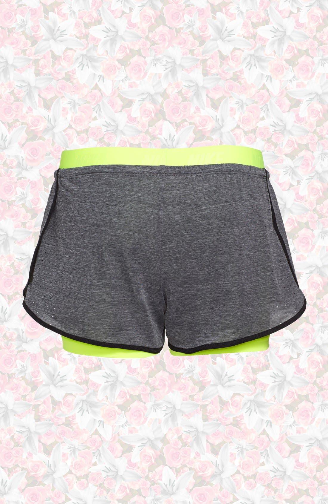 Alternate Image 2  - Nike 'Pro Inside Full Flex' Dri-FIT Training Shorts (Women)