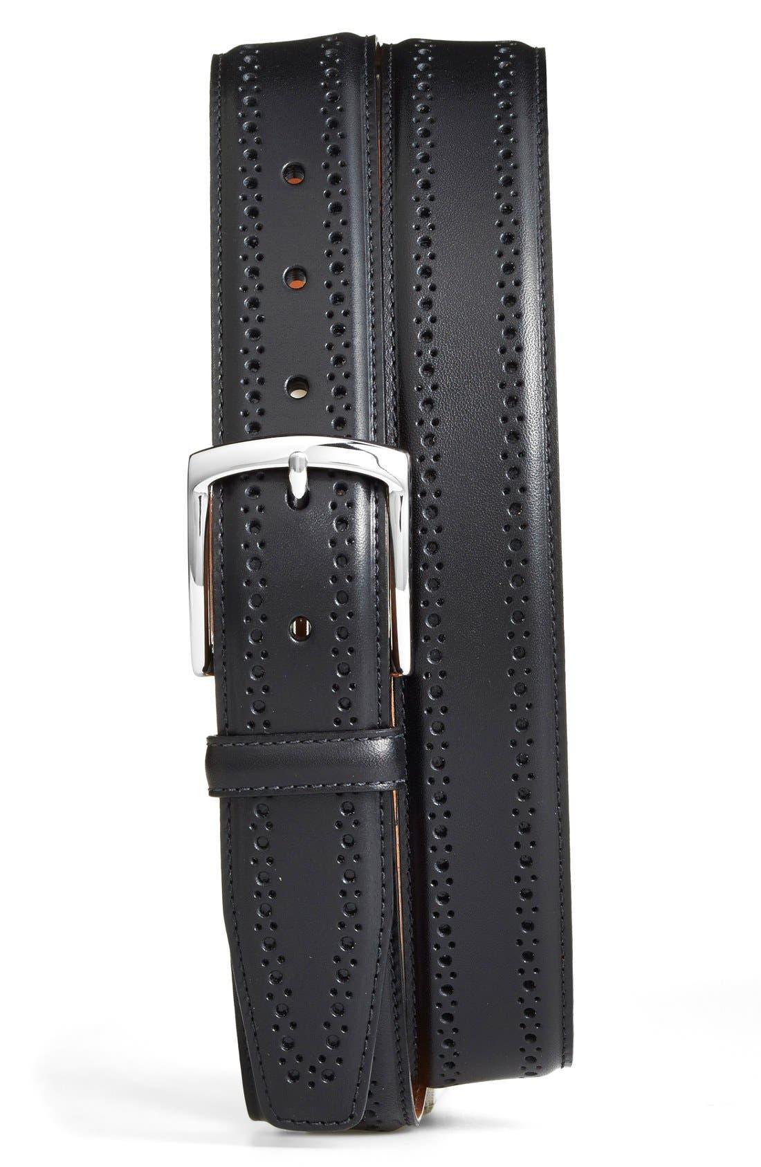 Alternate Image 1 Selected - Allen Edmonds Manistee Brogue Leather Belt