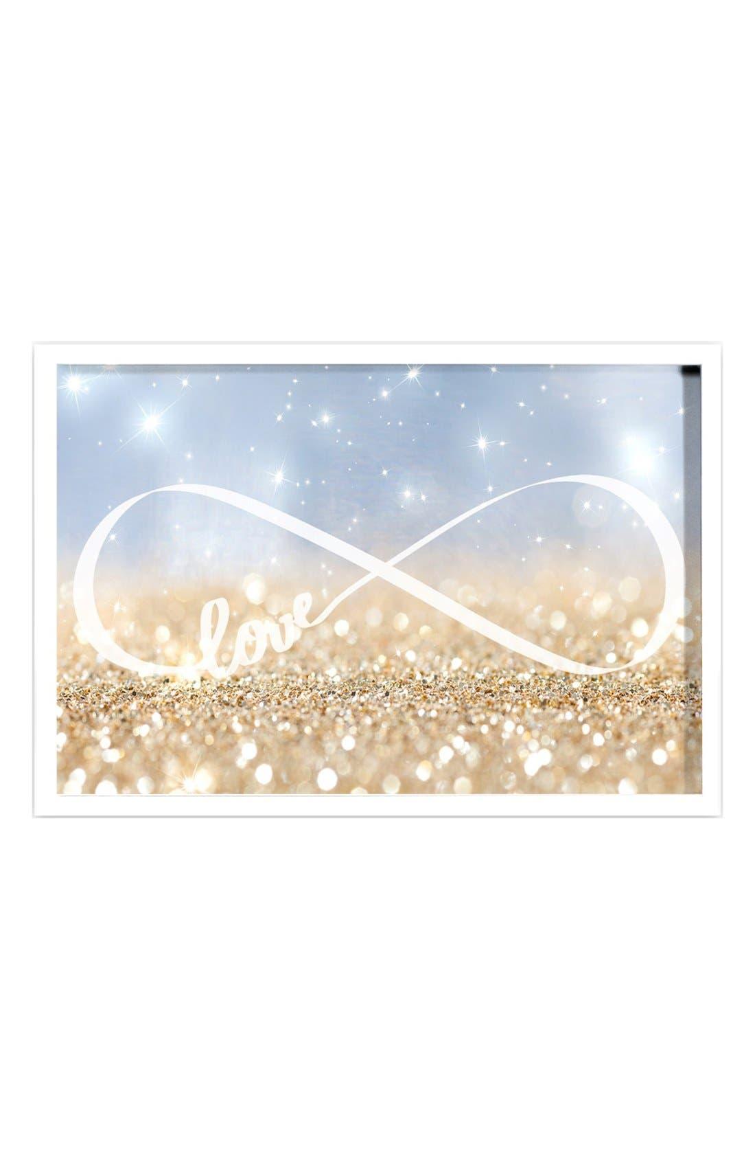 Oliver Gal 'Sparkle Love' Framed Art Print
